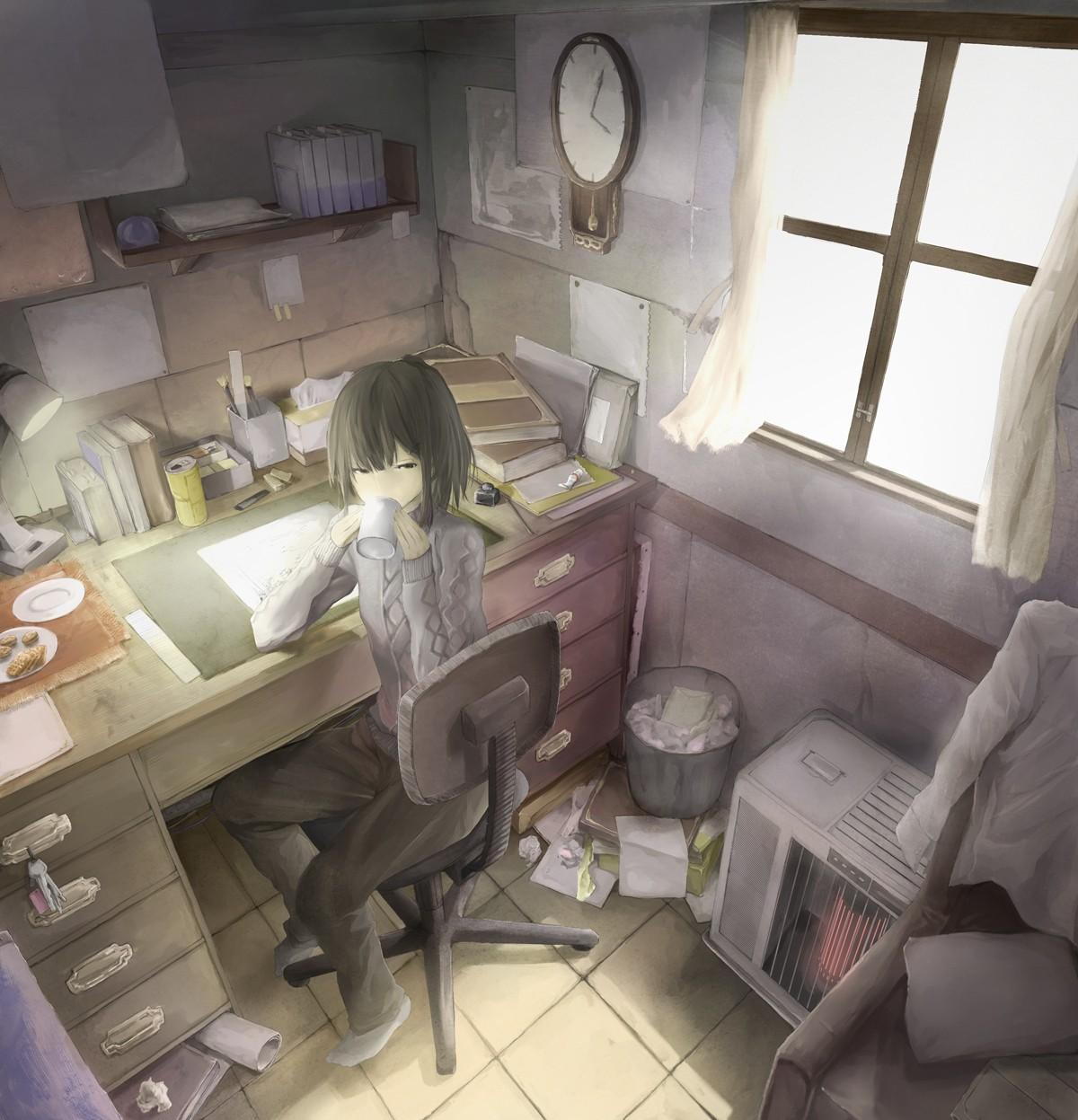 Wallpaper : Japan, Window, Anime Girls, Vehicle, Computer
