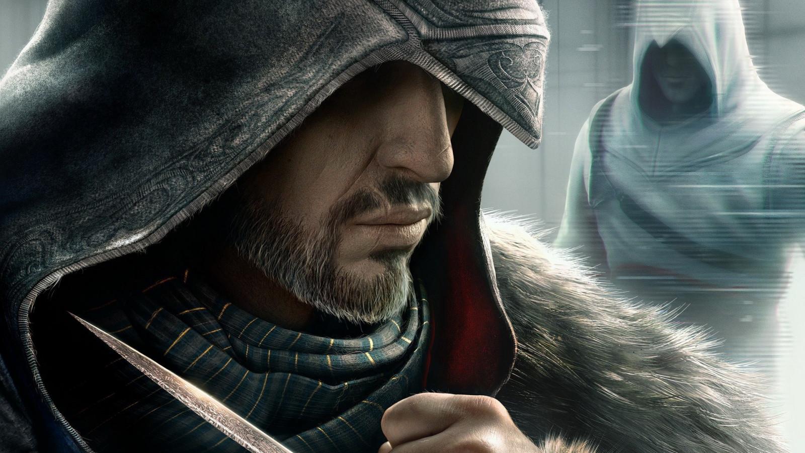 Wallpaper : video games, portrait, Assassin's Creed, Person, assassins, Ezio Auditore da Firenze, Alta r Ibn La Ahad, Assassin's Creed Revelations, man, screenshot 1920x1080 - Obseek - 147811 - HD Wallpapers - WallHere