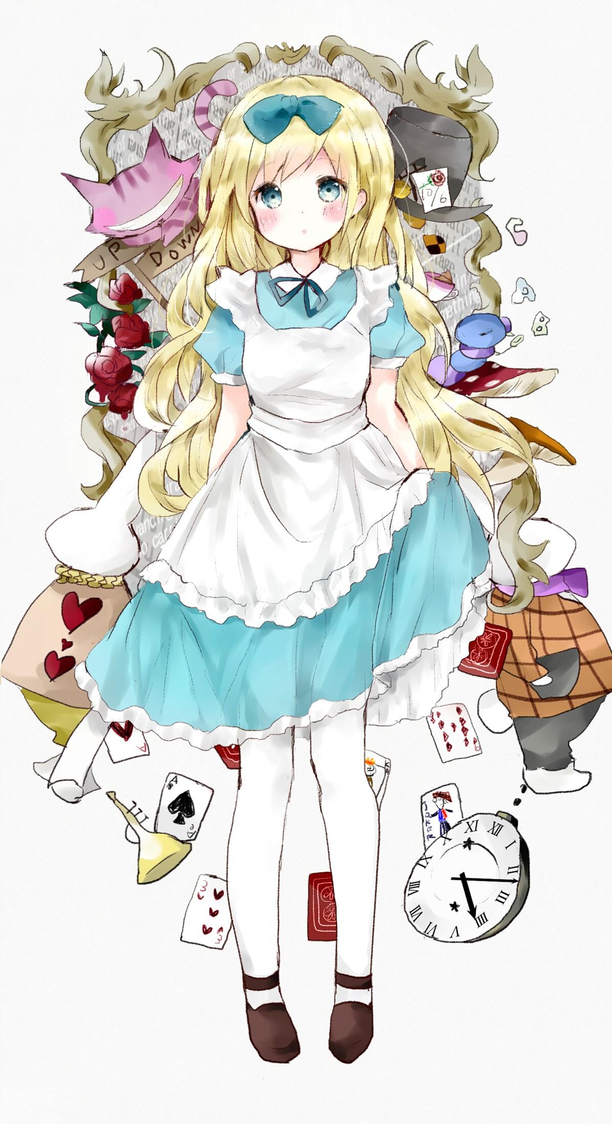 hình minh họa Anime hoạt hình Alice Alice ở xứ sở thần tiên Phác hoạ Mangaka