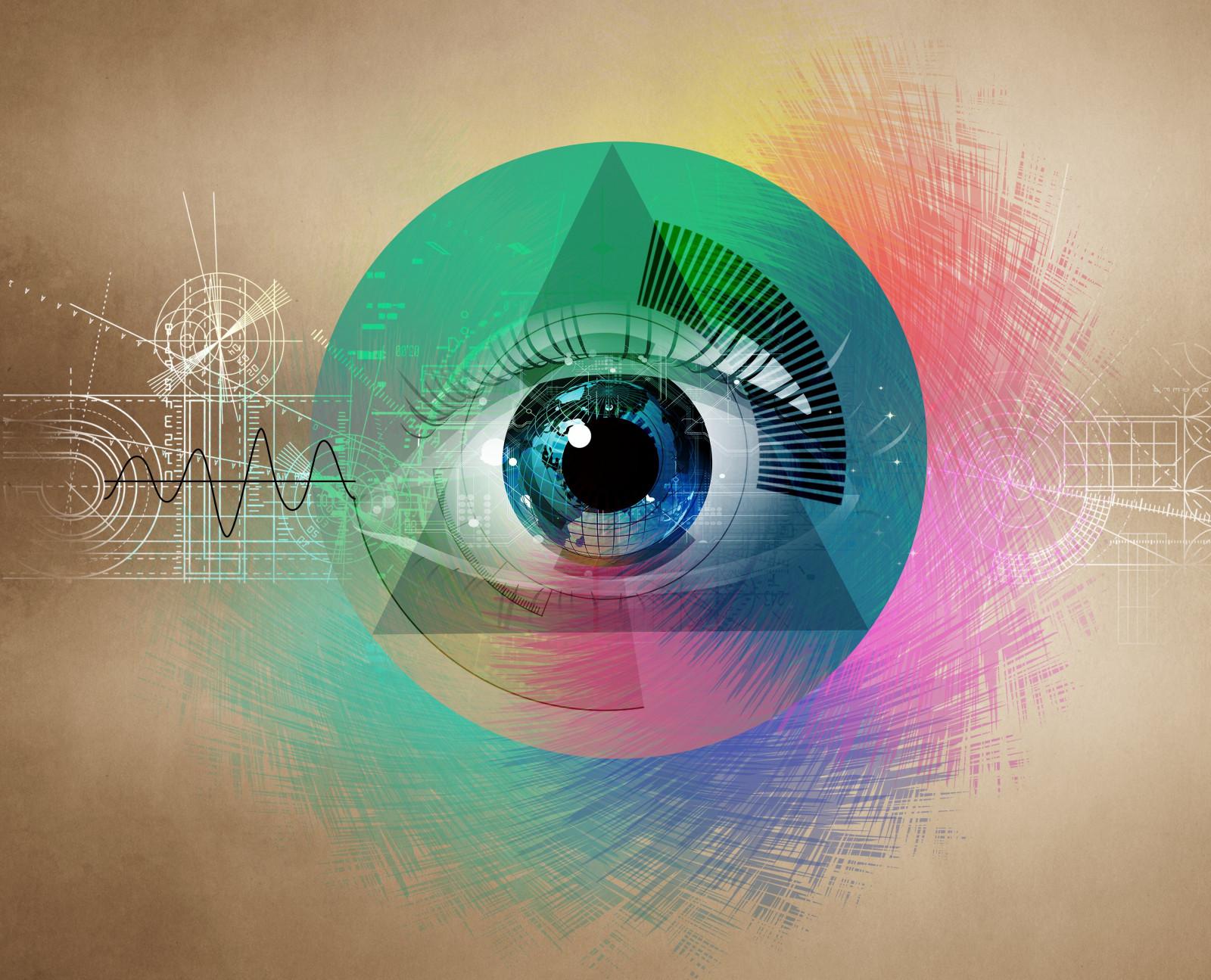 Wallpaper eye drawing abstract geometric shapes forms 4500x3644 wallup 1006206 hd - Eye drawing wallpaper ...