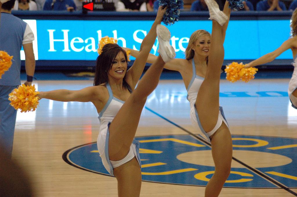 Тётка. Straight ucla basketball cheerleader them