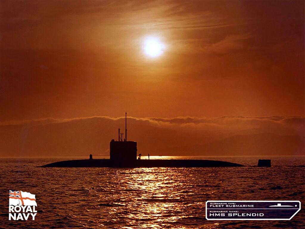 закат на море подводная лодка