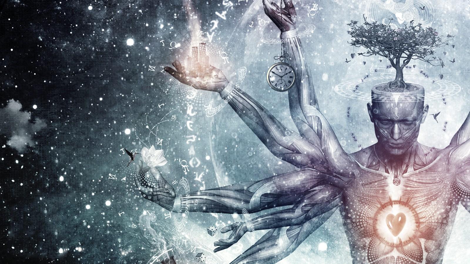Where The Mind Is Biggest The Heart The Senses: Fond D'écran : Illustration, Méditation, Spirituel