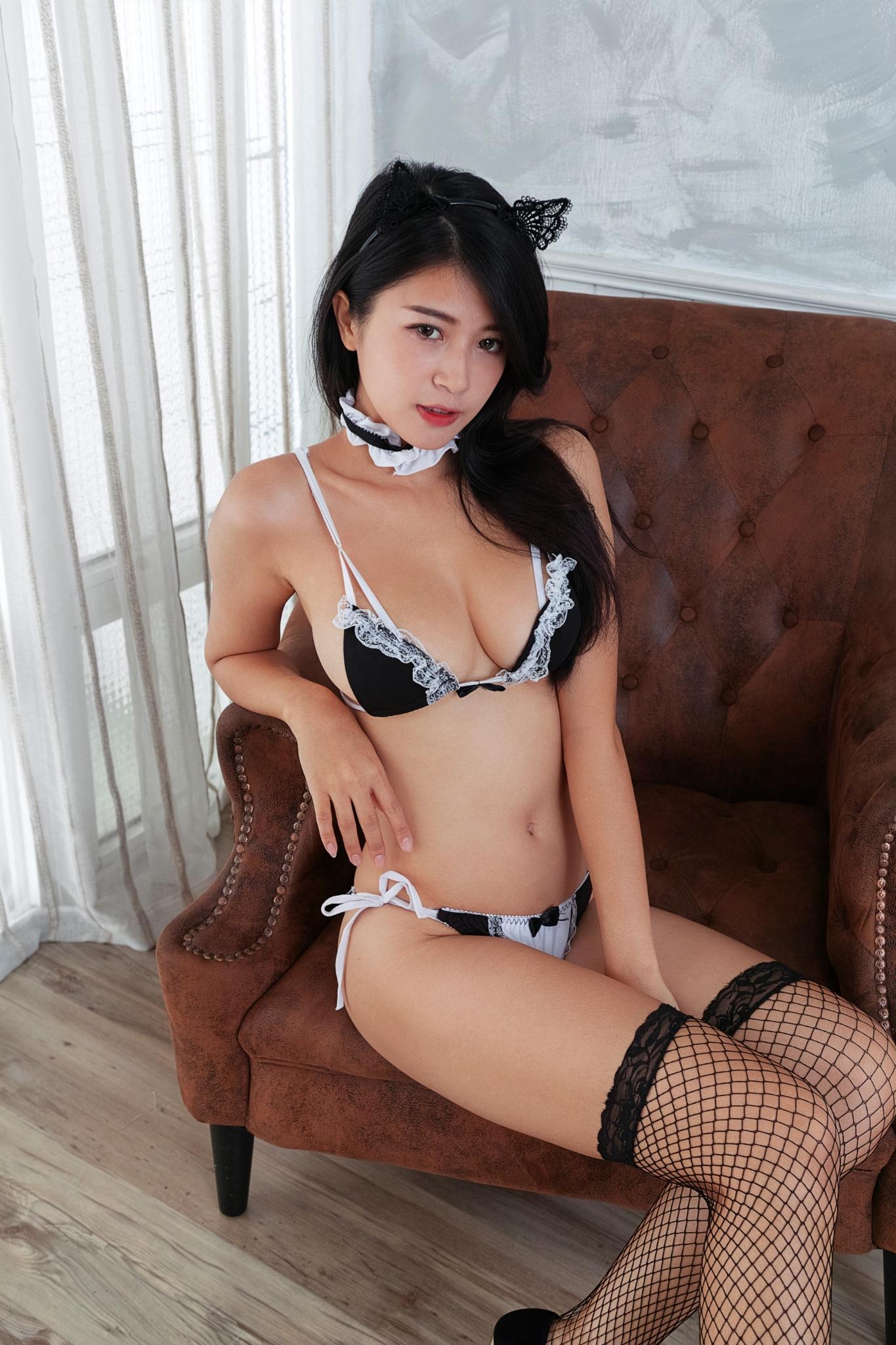 Asian girl in stockings