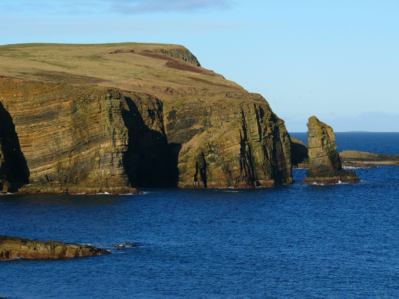 Wallpaper Sea Sky Stone Island Scotland Sand Orkney