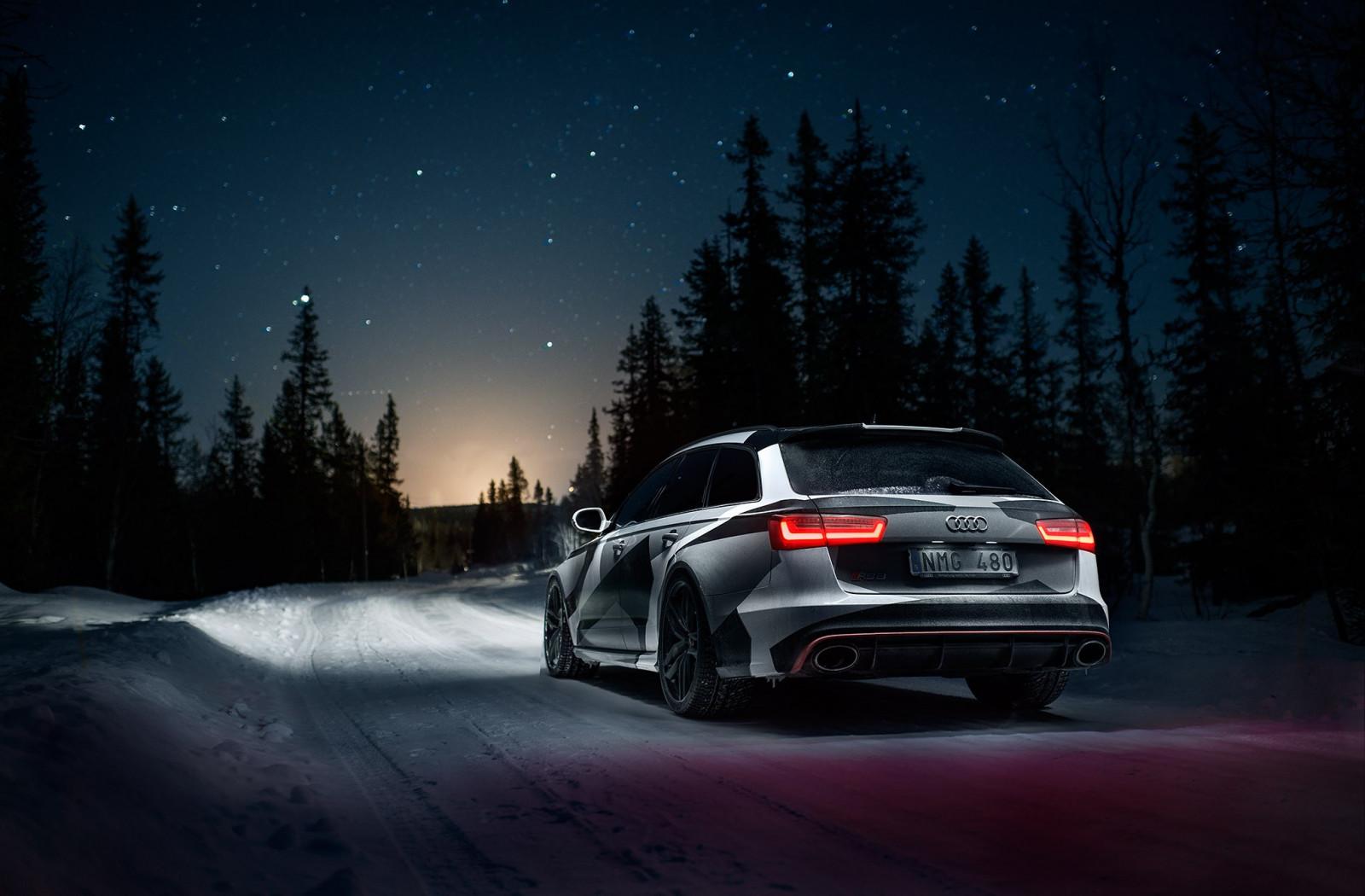 Fond d'écran : nuit, neige, véhicule, Audi quattro, Quattro, voiture de sport, Audi RS6 Avant ...