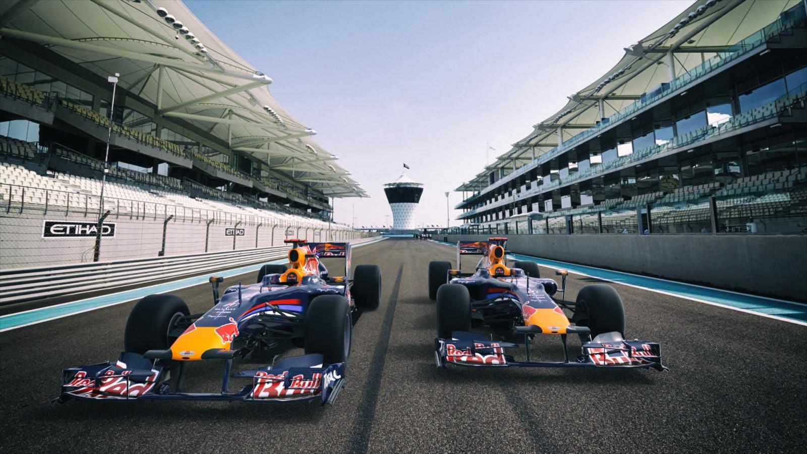 Wallpaper 3D Kendaraan Jalan Formula 1 Red Bull Mobil