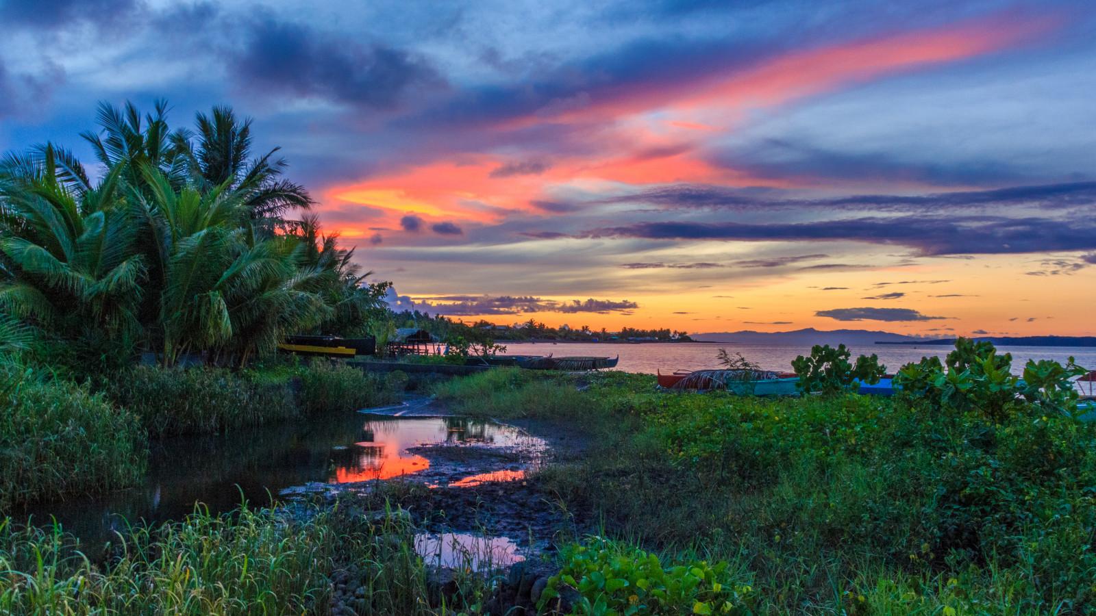 Fond d'écran : Voyage, le coucher du soleil, mer, été, vacances, panorama, plage, Canon ...