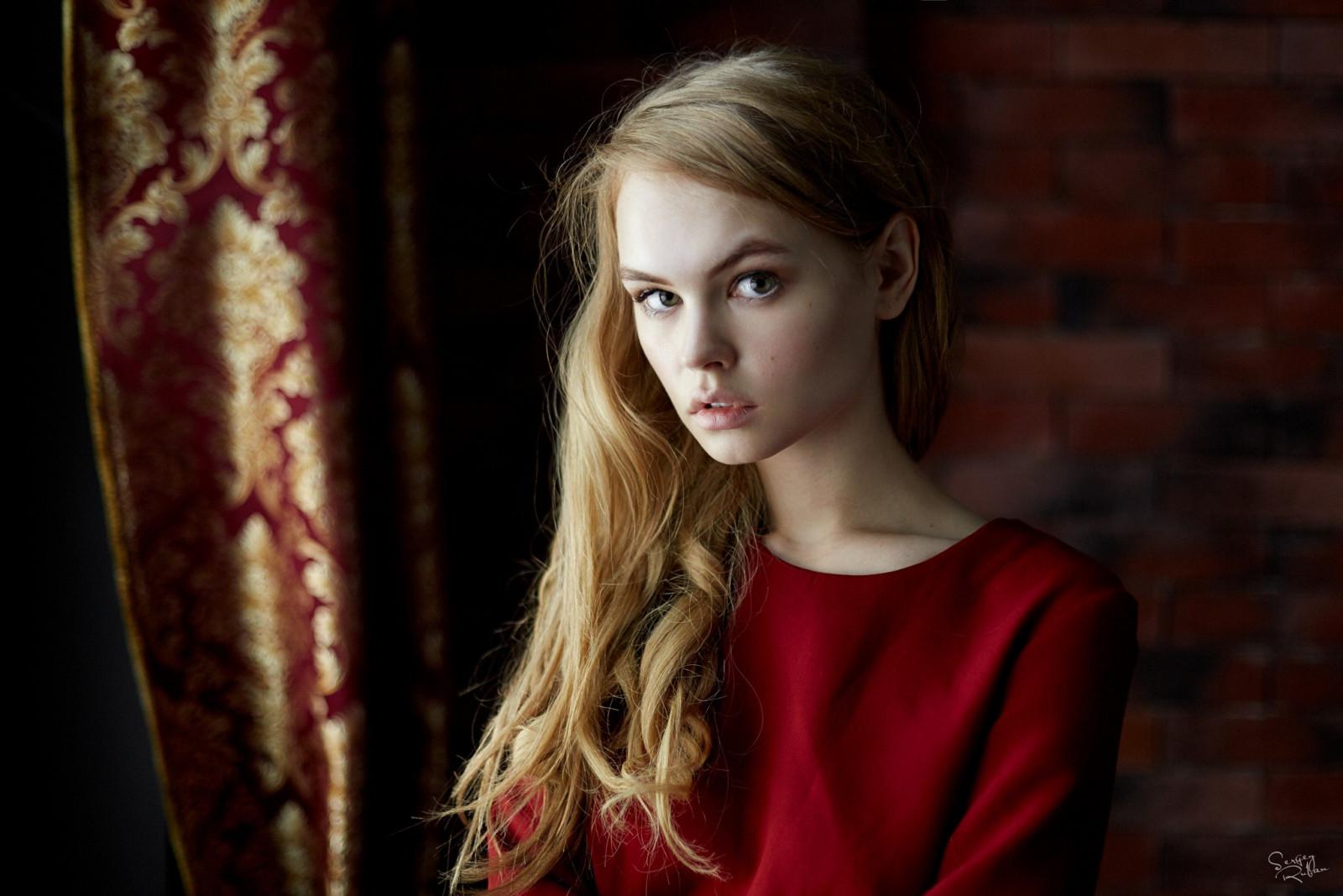 women, model, portrait, blonde, long hair, red, Anastasia Scheglova, photography, fashion, hair, Person, supermodel, girl, beauty, eye, woman, lady, hairstyle, portrait photography, photo shoot, brown hair, art model