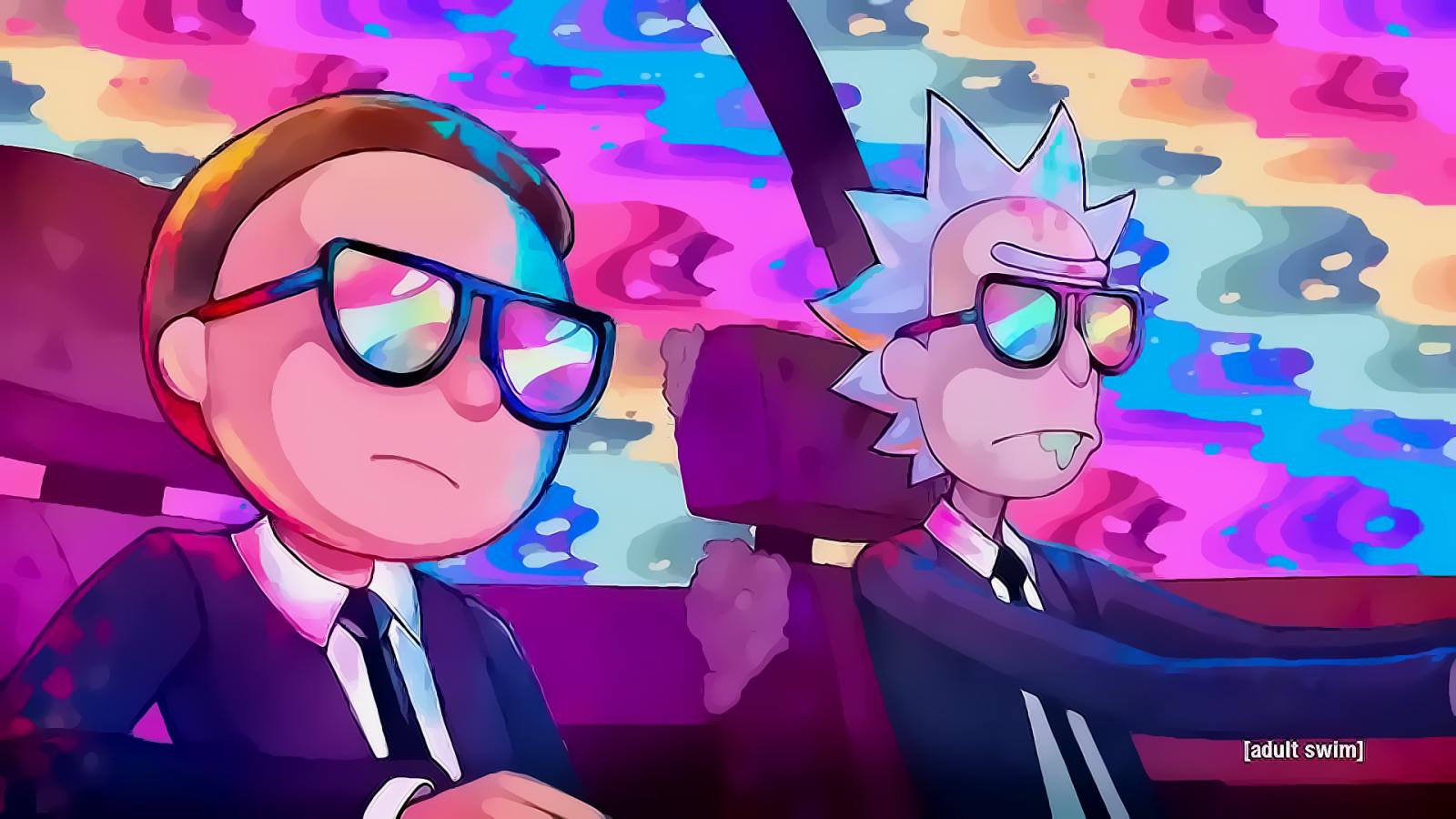 Wallpaper : Rick and Morty, sunglasses 1920x1080 ...