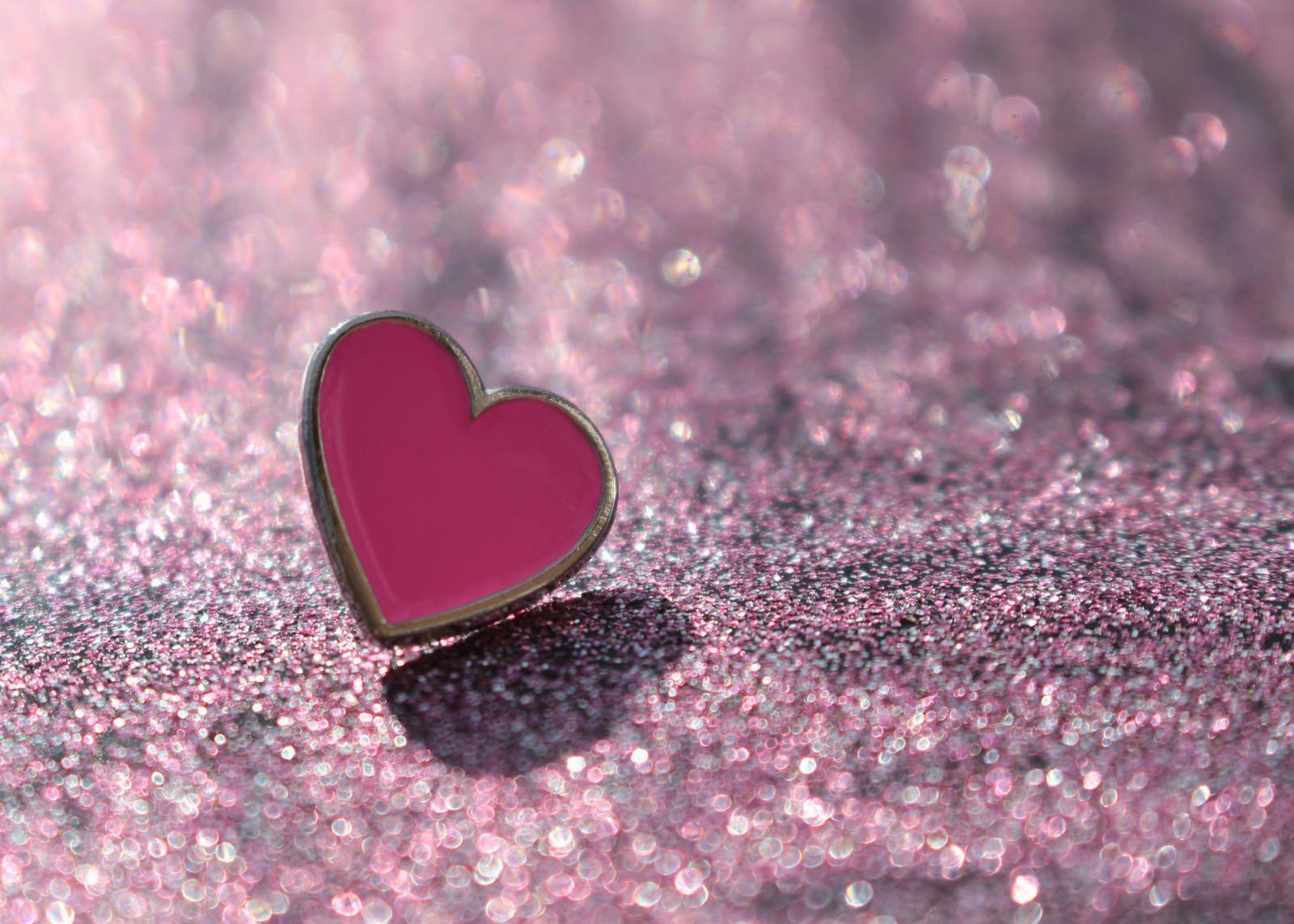 デスクトップ壁紙 愛 ハート ボケ バレンタイン キラキラ 銀