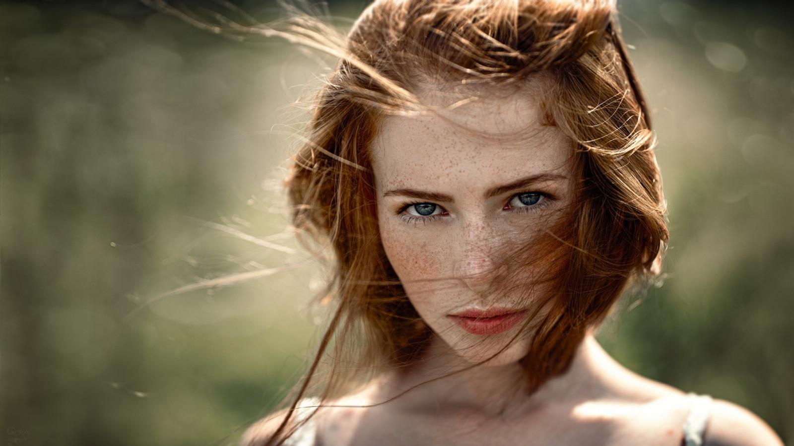 Hintergrundbilder  Gesicht, Frau, Rothaarige, Modell -8248