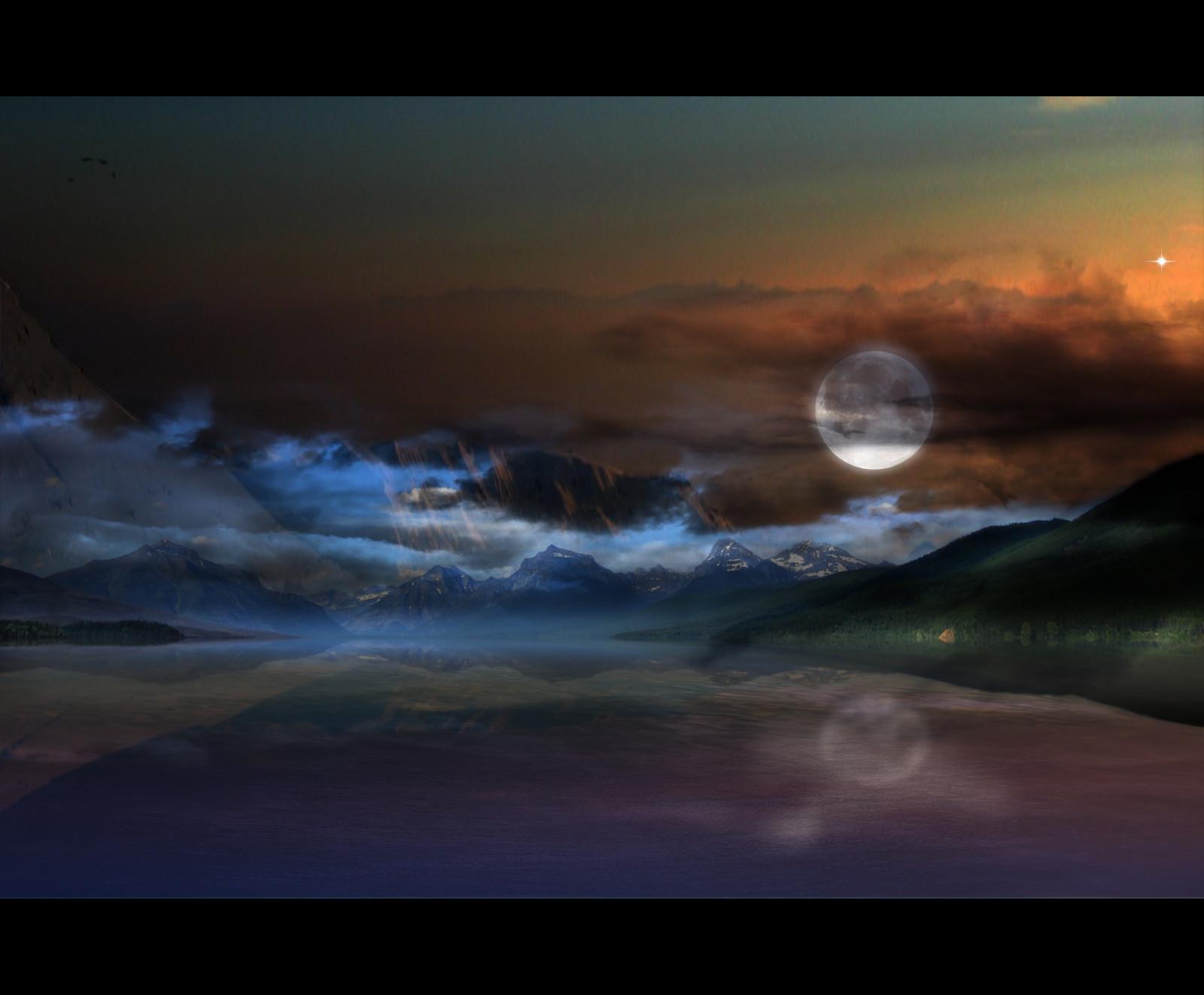 Wallpaper ghost fantome moon dark mattepainting photoshop cs3 theperfectphotographer - Ghost fantome ...