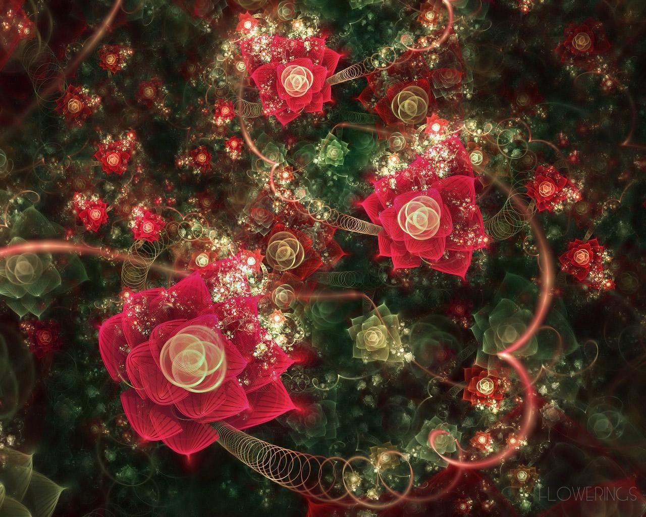 Hintergrundbilder : bunt, Fraktal, Rose, Weihnachtsbaum, Weihnachten ...