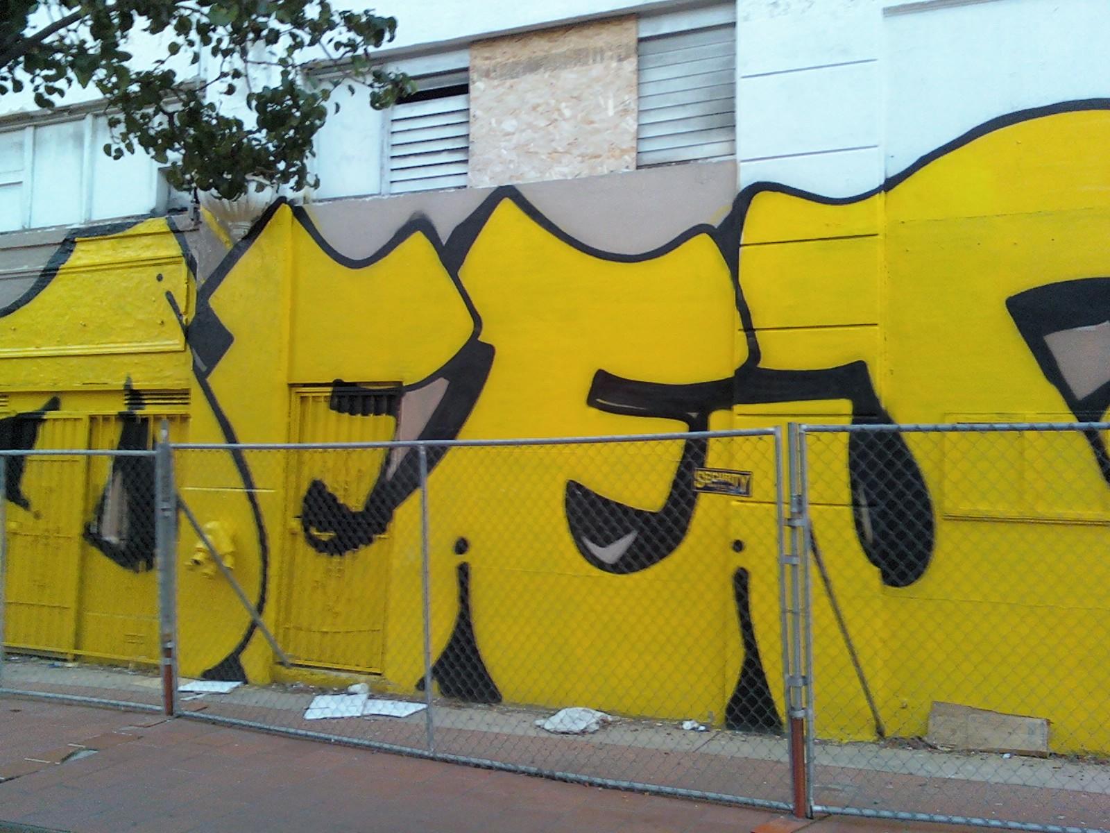 Wallpaper : wall, yellow, sign, graffiti, street art, mural, San ...