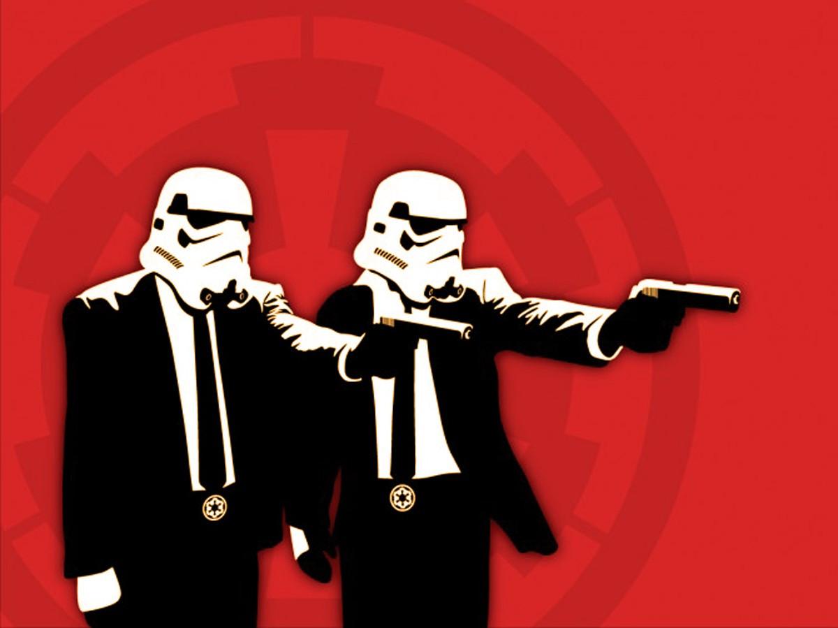 Wallpaper Star Wars Humor Gentleman Pulp Fiction