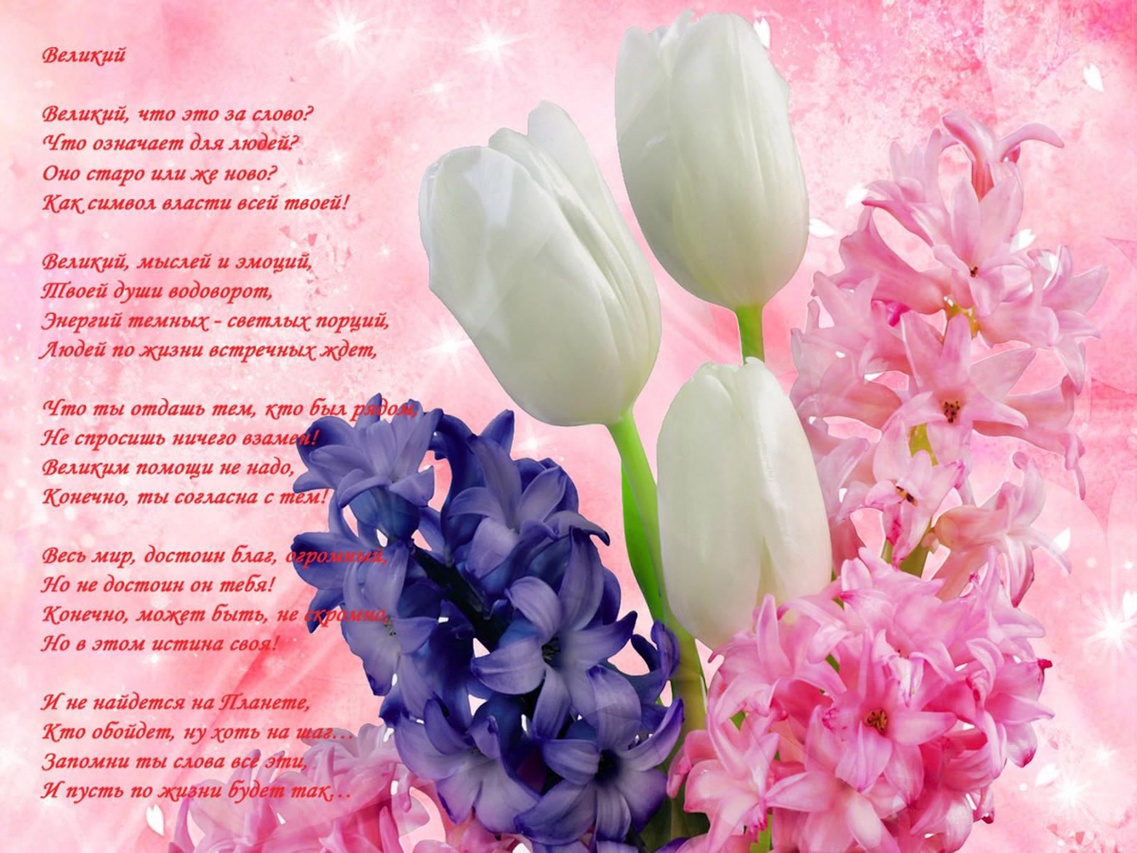 Цветы стихи в картинках, дню начальника открытка