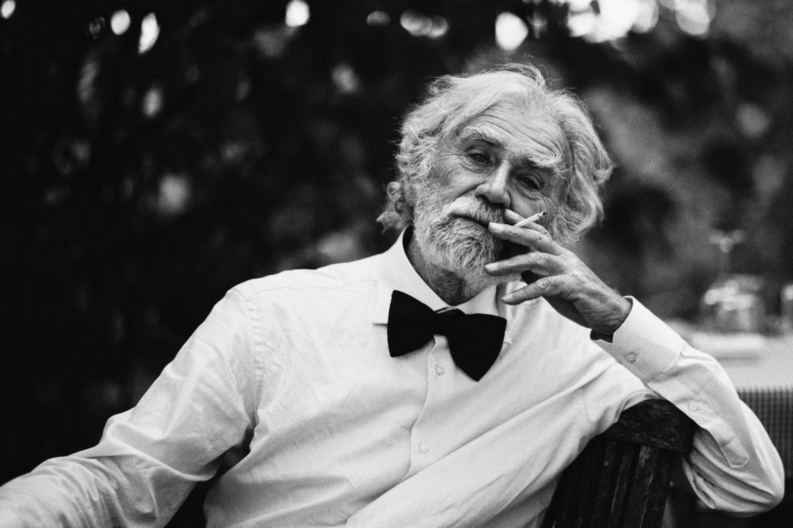 Black monochrome portrait photography smoking gentleman person man human oldman photograph cigarette black and white monochrome