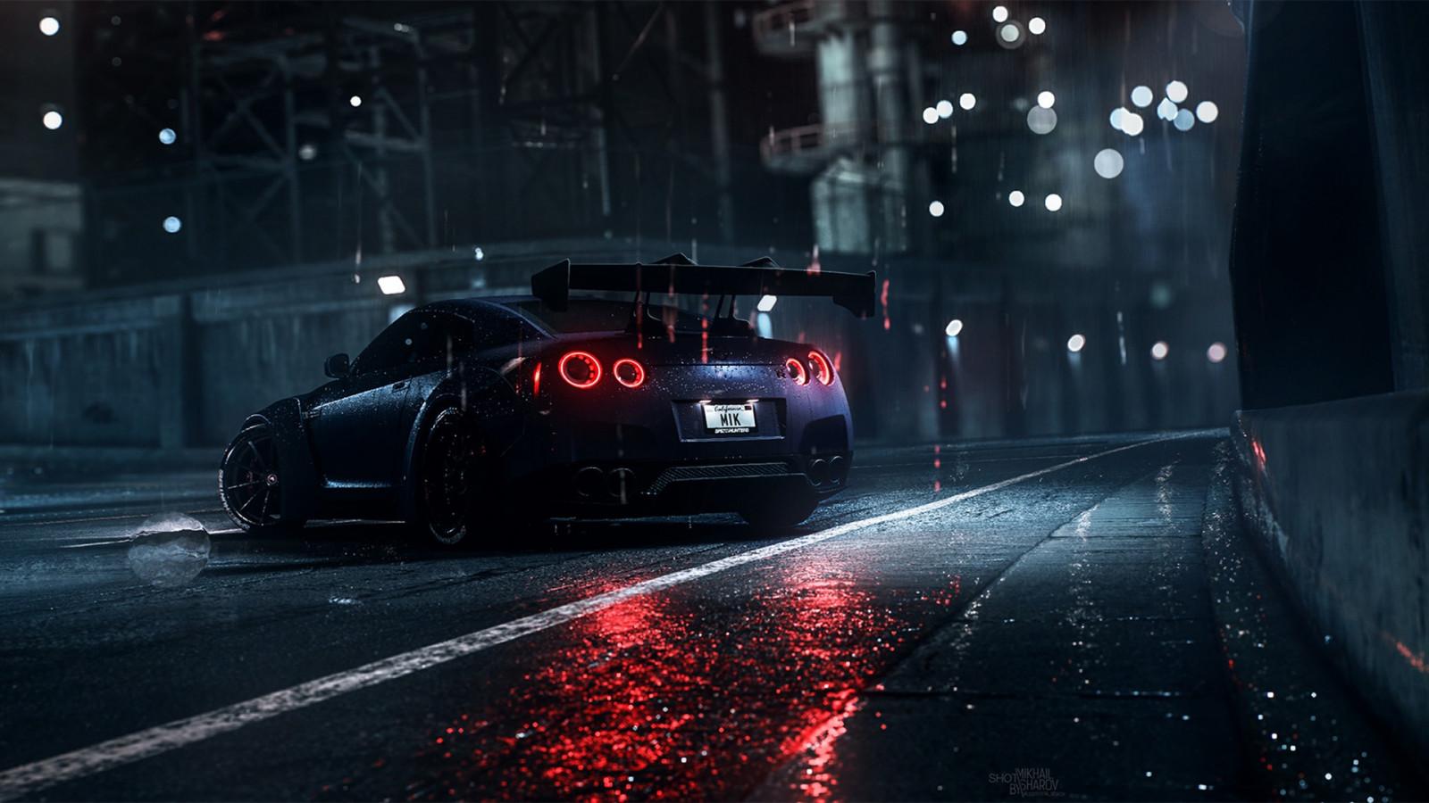 Fondos de pantalla : oscuro, noche, lluvia, coche, Nissan ...