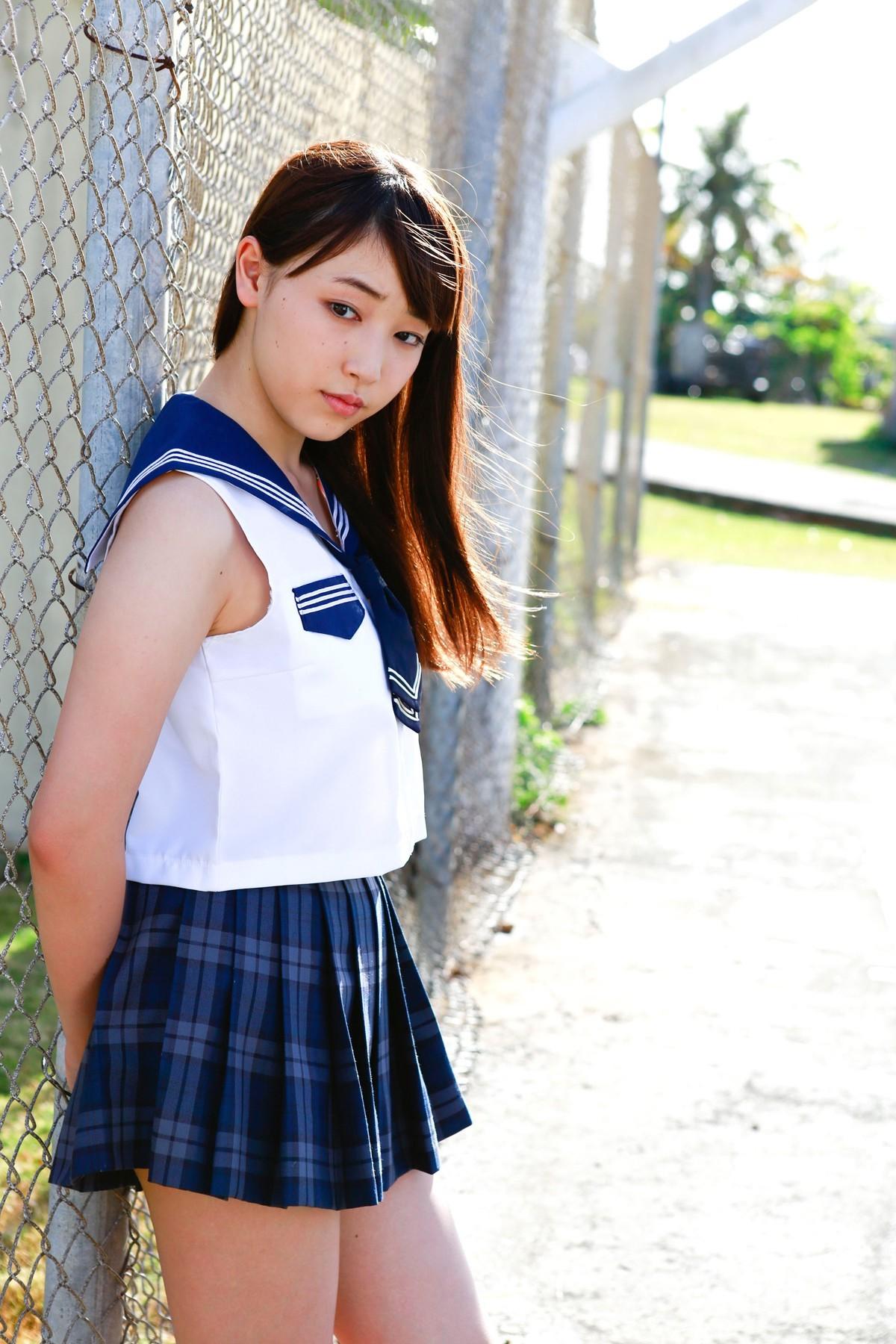 b01be4fbc8af model kjole blå mønster mode tøj Morning musume Mizuki Fukumura pige dame  ben design kostume frisure