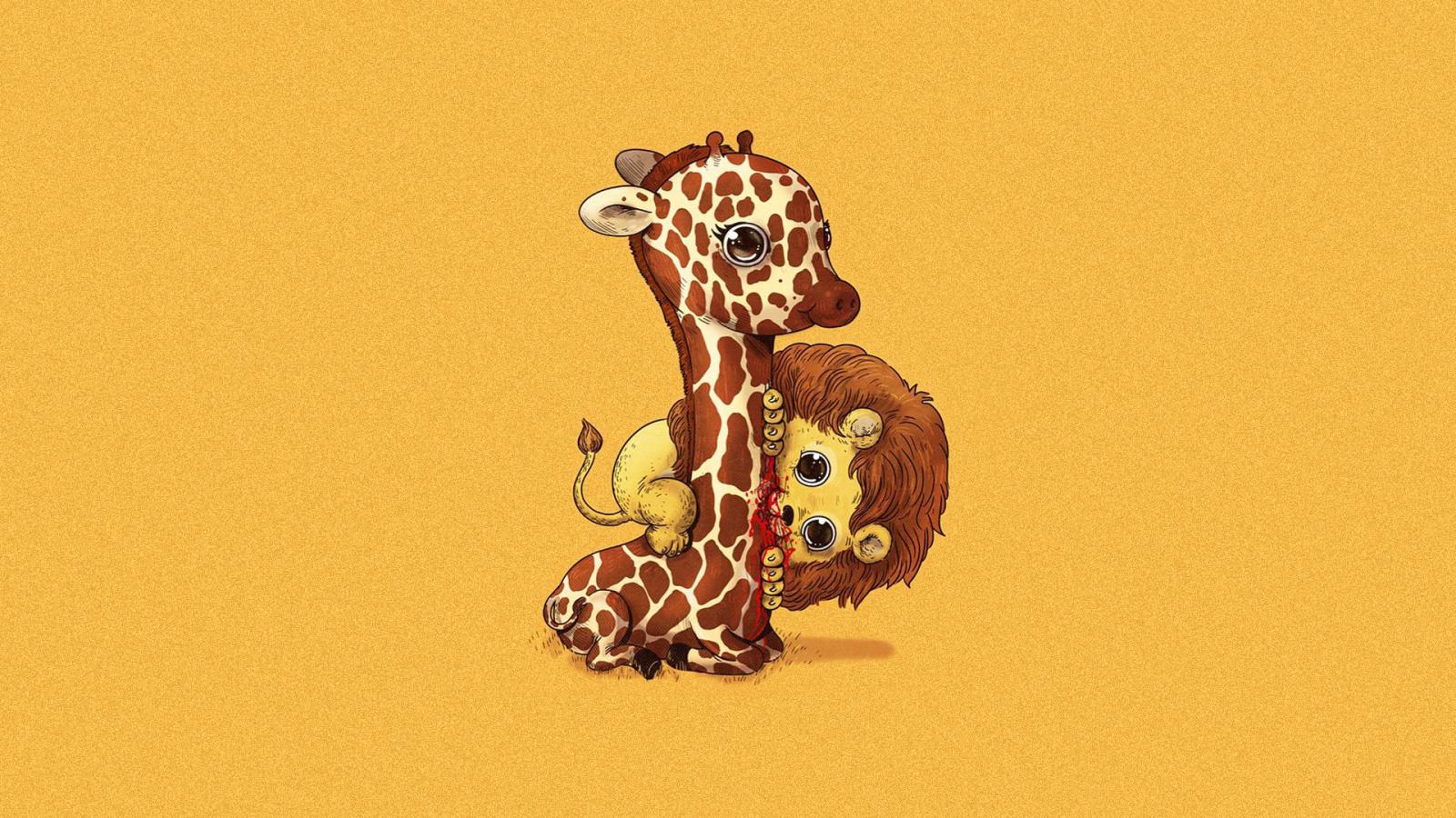 Fondos De Pantalla De Jirafas: Fondos De Pantalla : Ilustración, Animales, Minimalismo