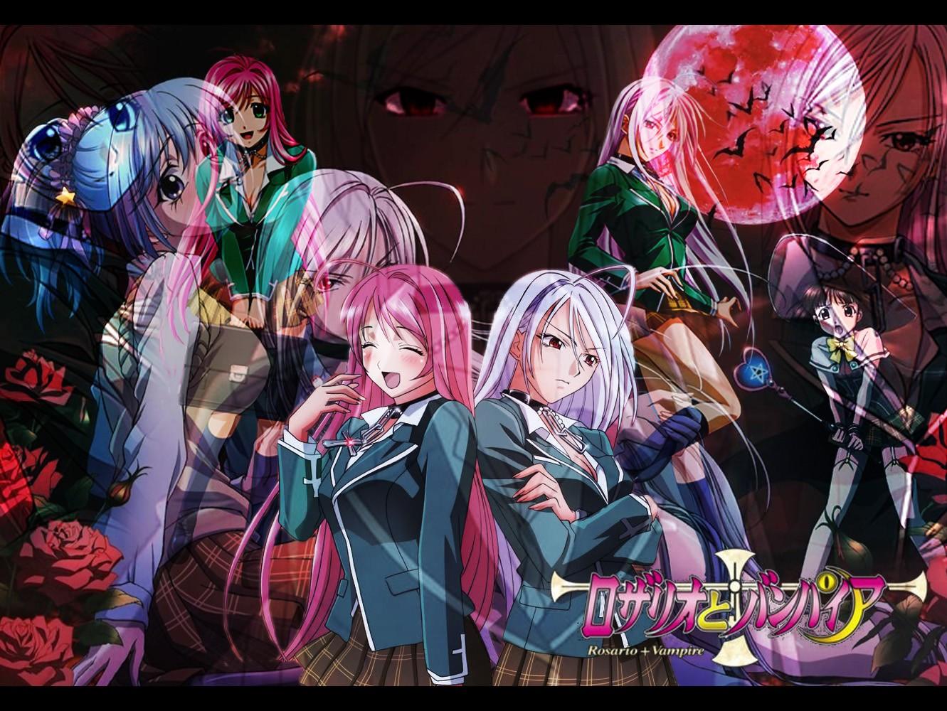 Wallpaper Anime Comics Rosario Vampire Akashiya Moka