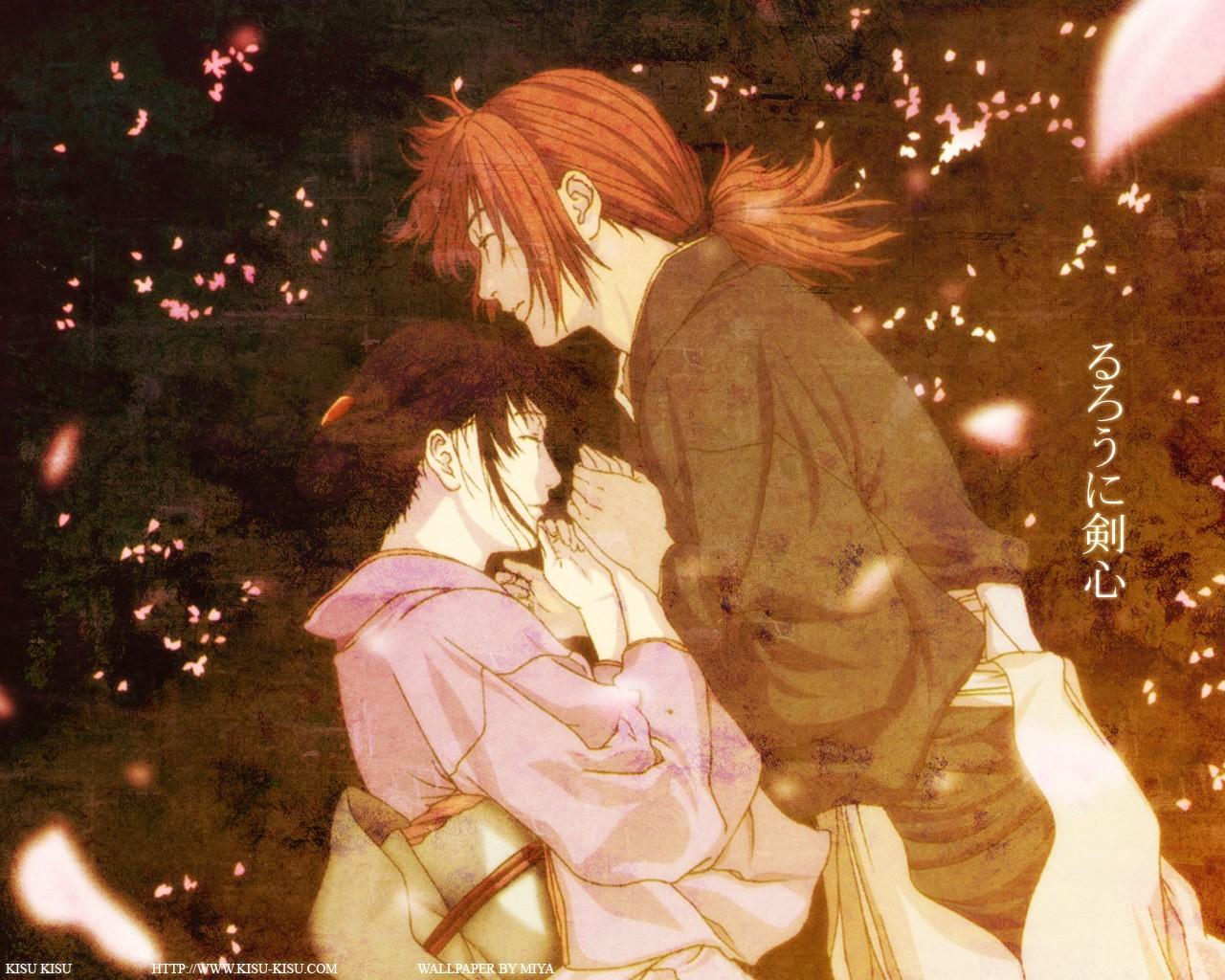 Wallpaper Anime Christmas Samurai X Romance Interaction