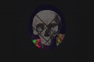 Wallpaper glitch art abstract ascii art skull - Art wallpaper 2160x3840 ...