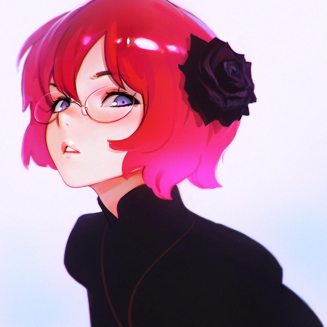 Sfondi illustrazione testa rossa anime girls capelli