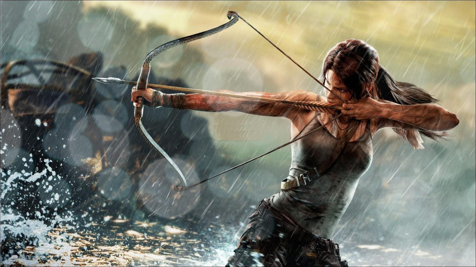 Wallpaper : 1920x1080 px, archers, bows, Lara Croft, Rise ...