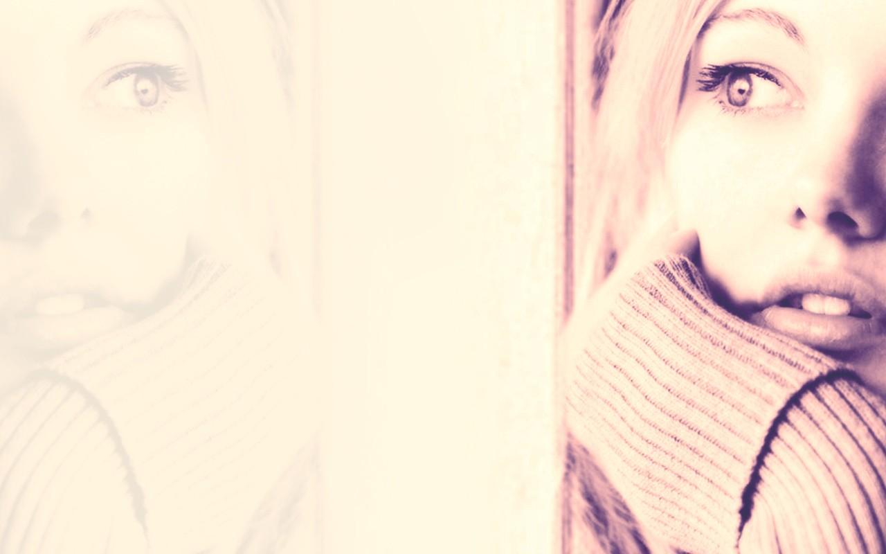 Fond D Ecran Visage Dessin Blanc Femmes Maquette Reflexion