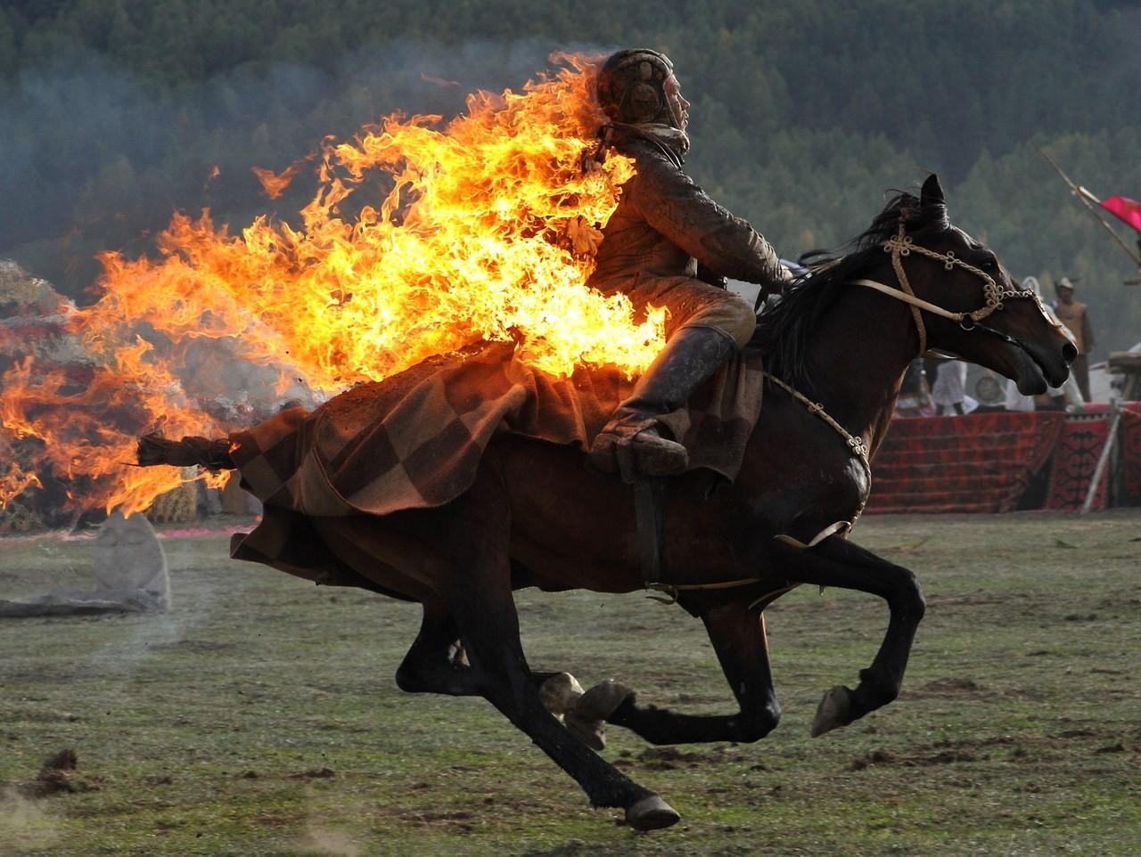 Horse Fire Burning Screenshot Stallion Mustang Pack Animal