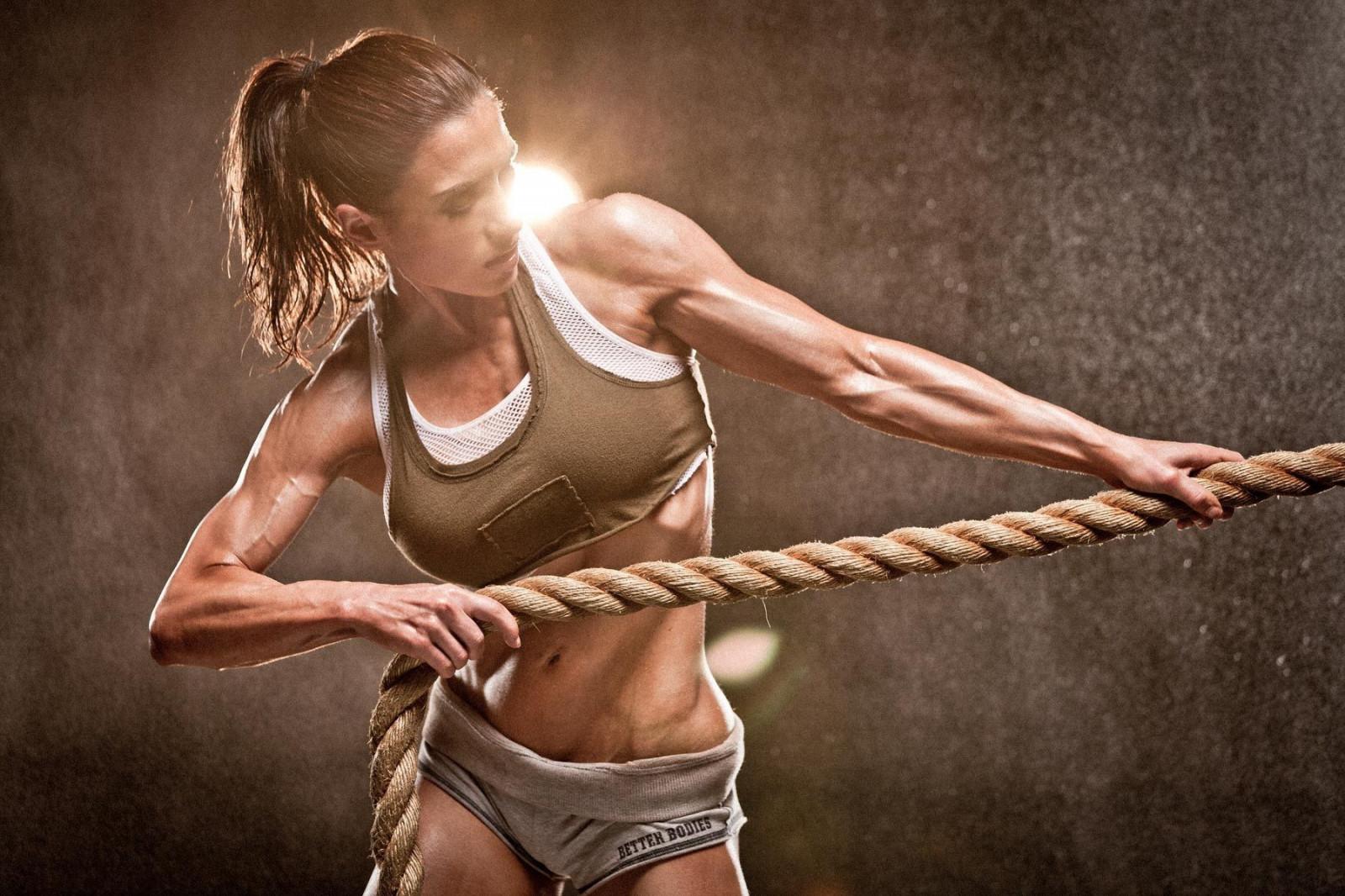 Wallpaper  Women, Skinny, Fitness Model, Exercising -9569
