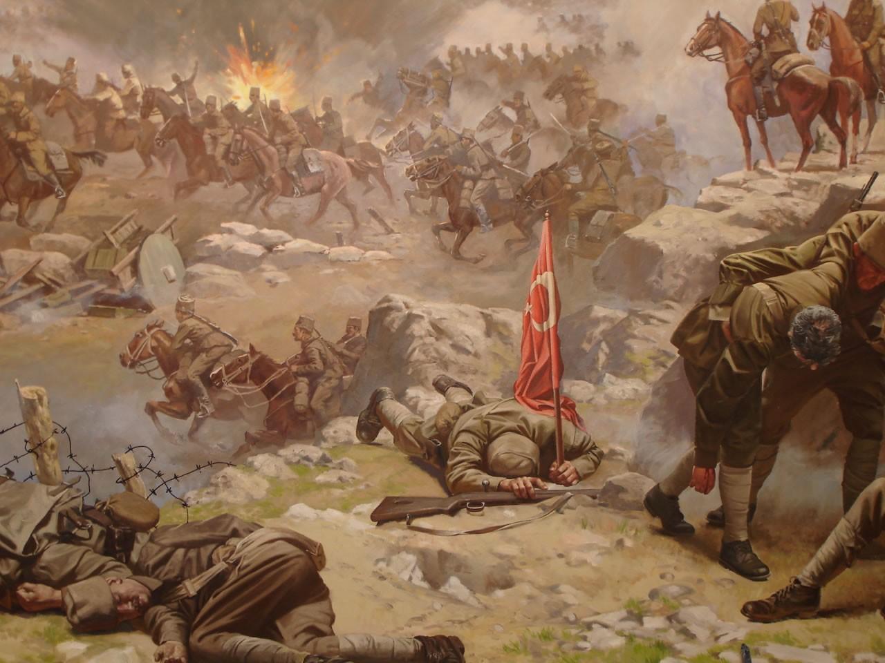 Masaüstü Boyama Savaş Resim Türk Askeri Mitoloji Ekran