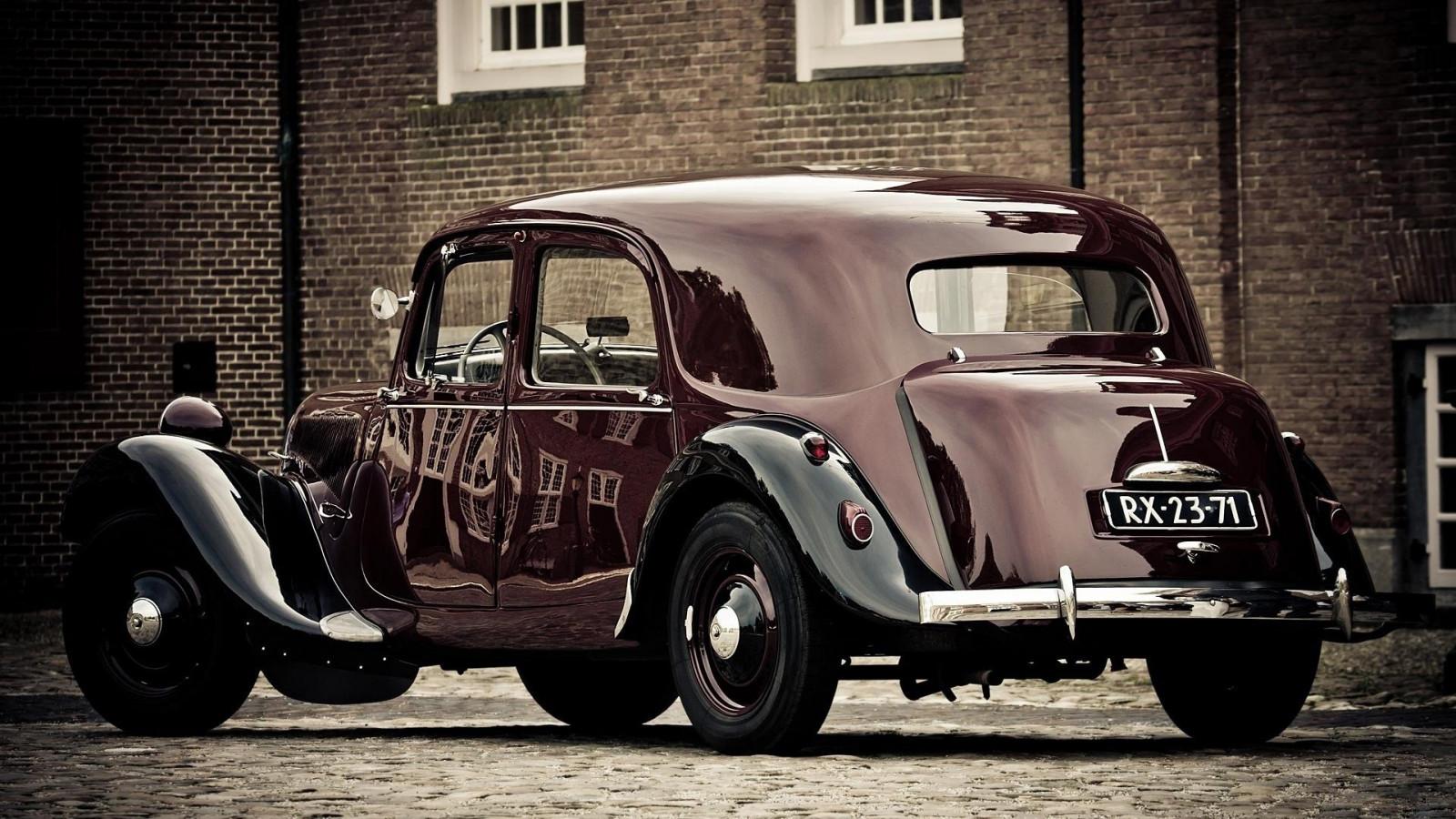 fond d 39 cran vieille voiture voiture ancienne voiture classique sedan citro n v hicule. Black Bedroom Furniture Sets. Home Design Ideas