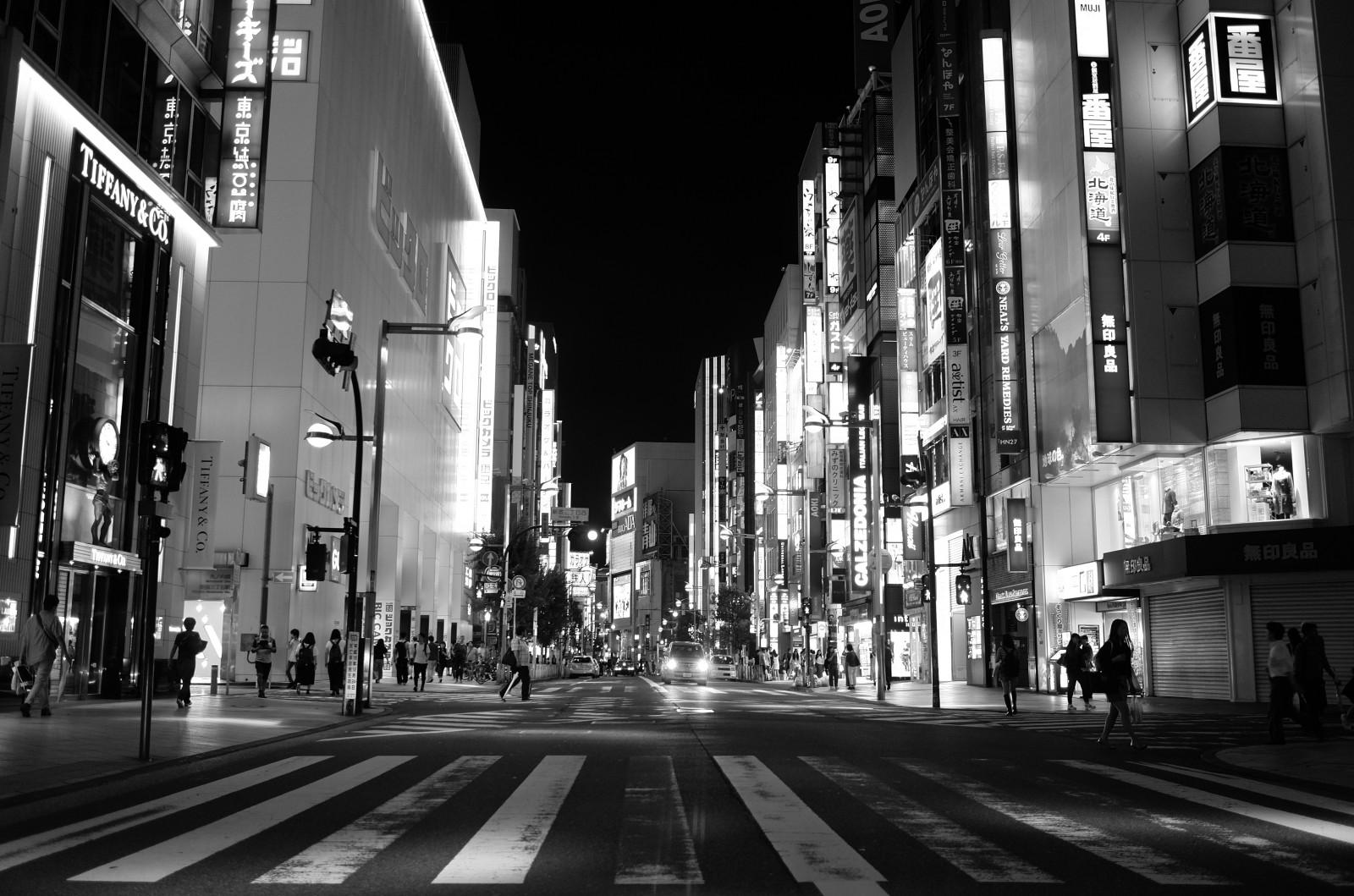 Wallpaper : Japan, street, cityscape, night, road ...