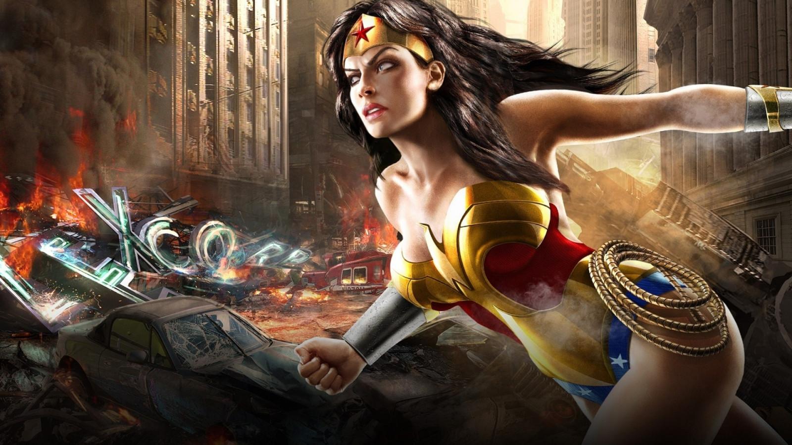 Wallpaper Video Games Anime Artwork Wonder Woman Dc Comics