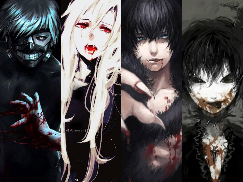 Wallpaper : illustration, blood, vampires, demon, Tokyo