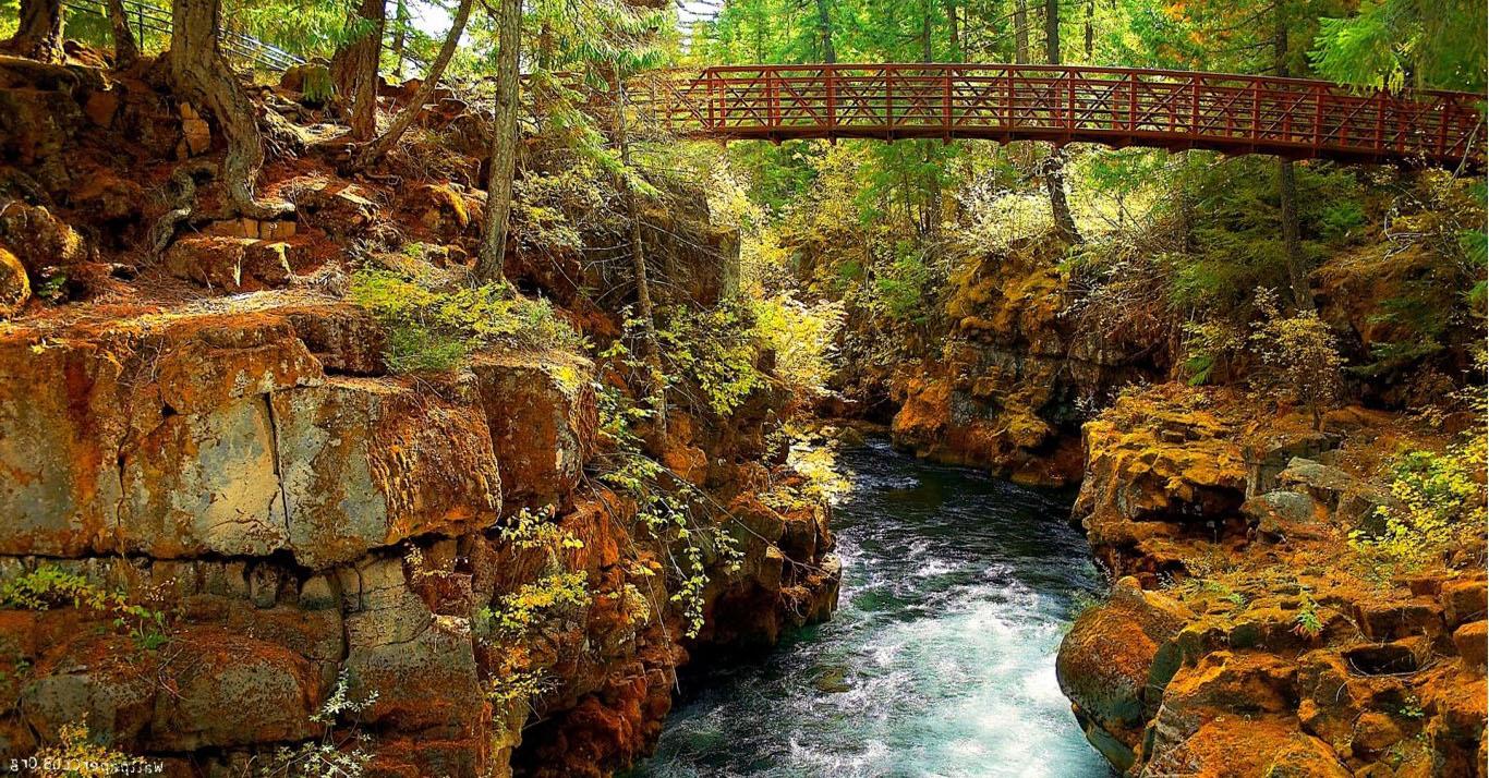Sfondi paesaggio cascata acqua roccia natura for Immagini autunno hd