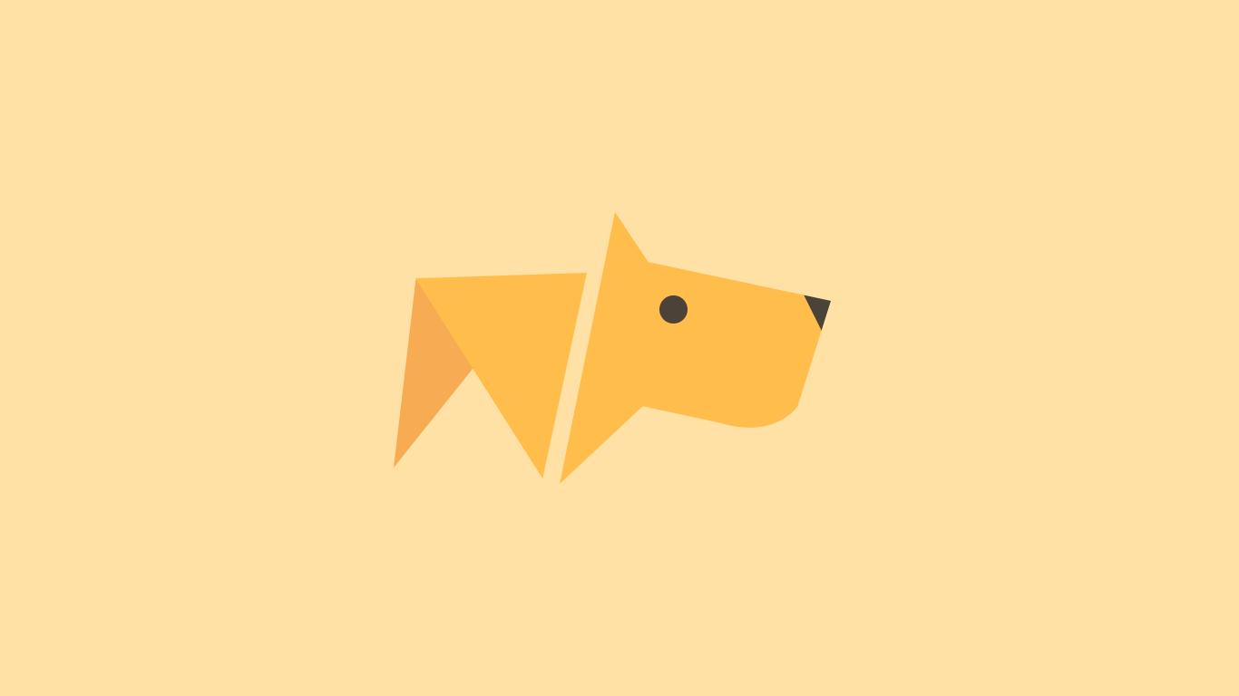 Wallpaper : Illustration, Minimalism, Logo, Cartoon, Dog