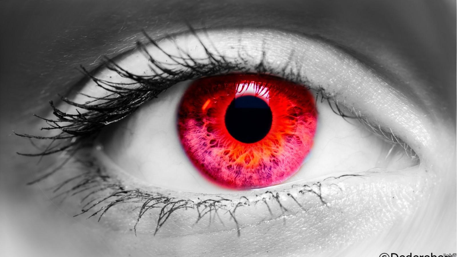 Fond d 39 cran visage monochrome les yeux rouge la for Interieur yeux rouge