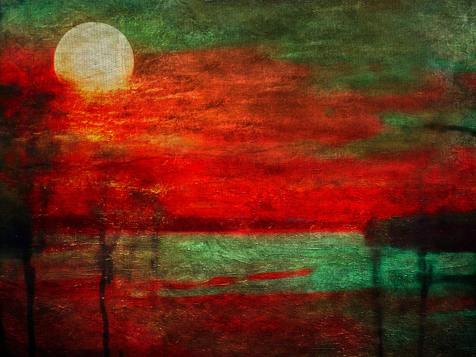Fond d'écran : La peinture, baie, rouge, vert, texture, Couleur, art numérique, manipulation de ...