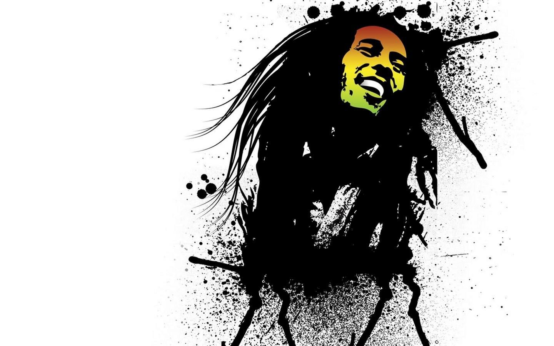 Wallpaper Ilustrasi Gambar Kartun Bob Marley SENI Sketsa