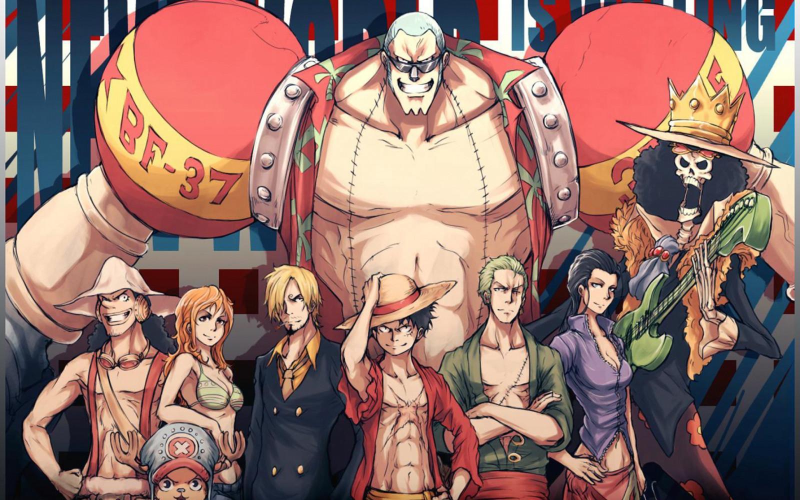 Fond d 39 cran illustration anime manga dessin anim - One piece equipage luffy ...
