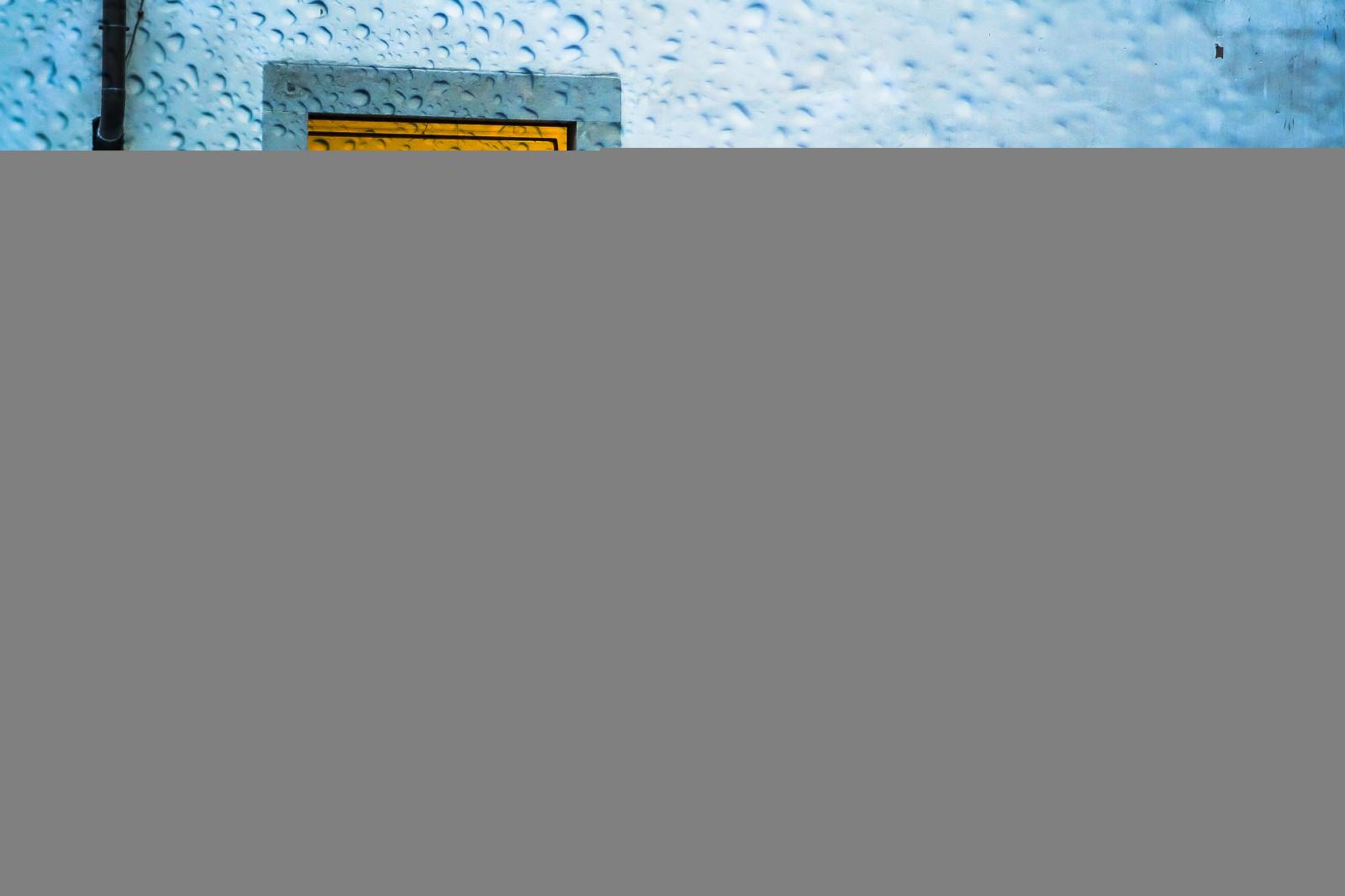 Fond D Ecran Pluie Jaune Bleu Verre Modele Rideau Orange