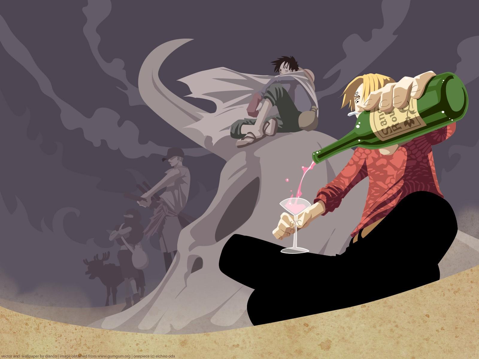 Wallpaper Illustration Anime Cartoon One Piece Sanji