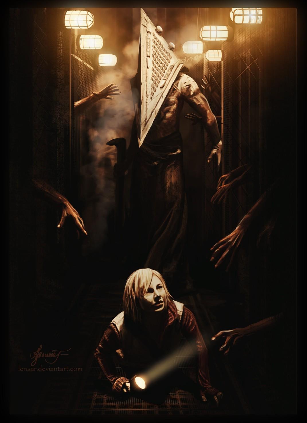 Wallpaper Illustration Horror Poster Pyramid Head Flashlight Silent Hill Revelation Art Darkness Screenshot Album Cover 1071x1473 Kl4v0 190013 Hd Wallpapers Wallhere