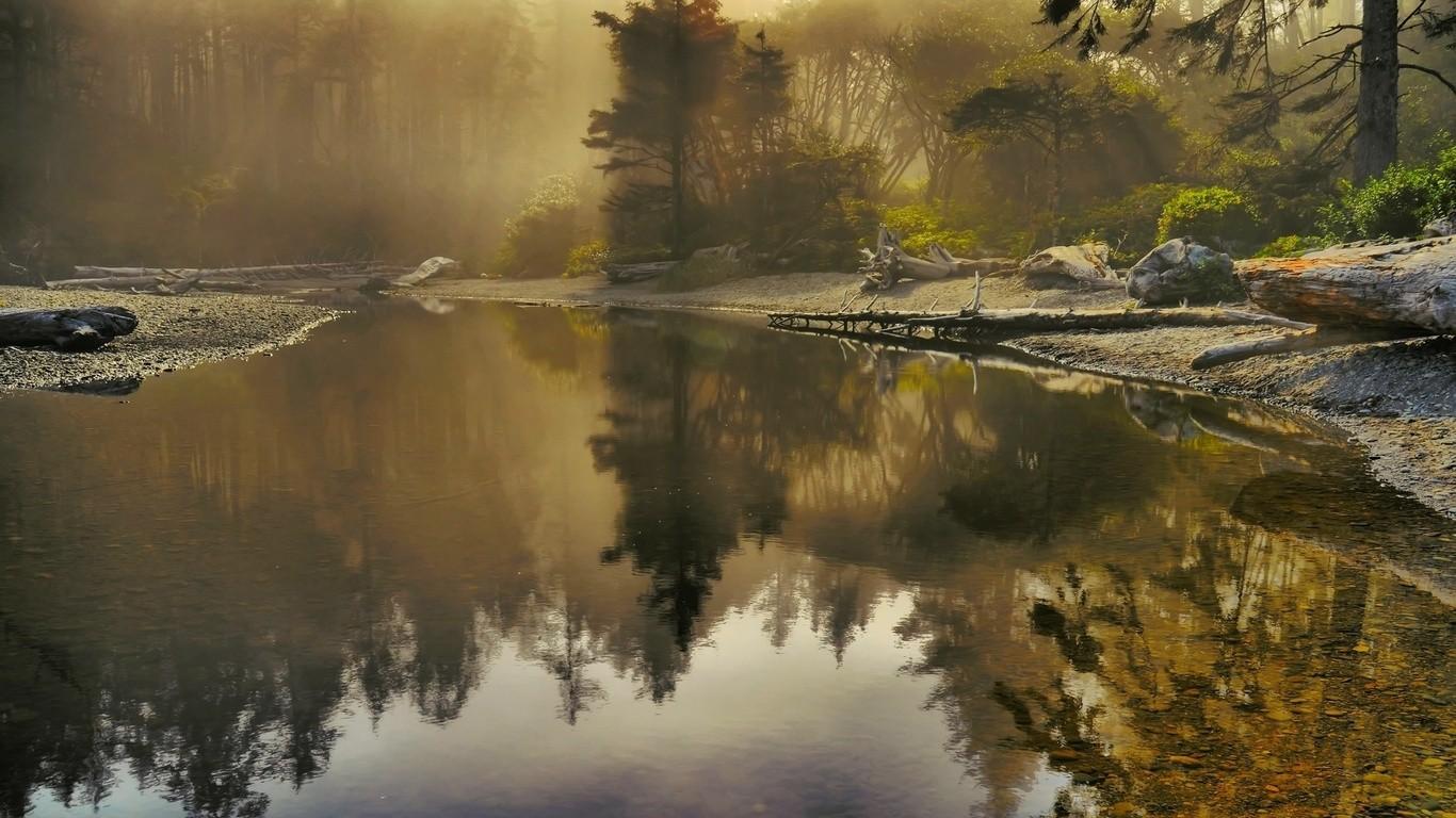 озеро туман обои на рабочий стол № 381752  скачать
