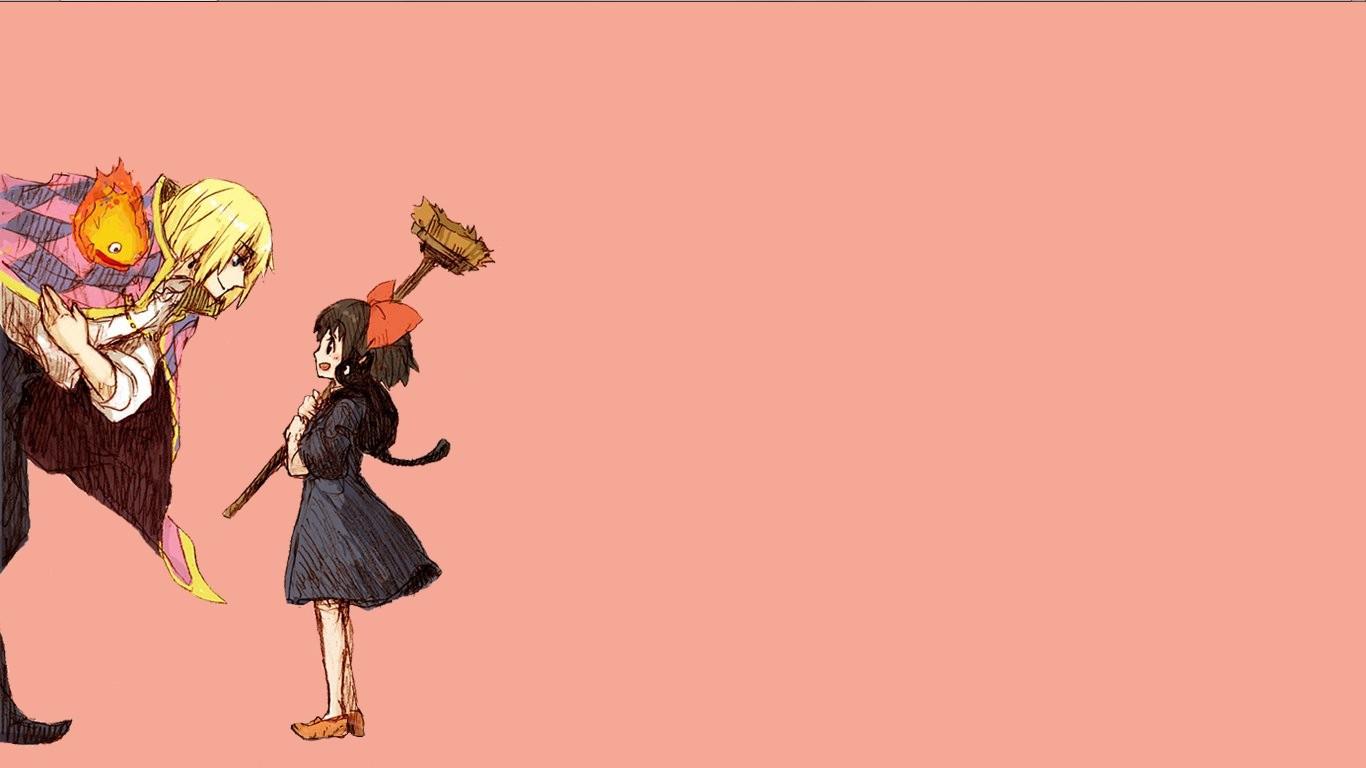 Illustration Anime Crossover Cartoon Studio Ghibli Kikis Delivery Service Howl