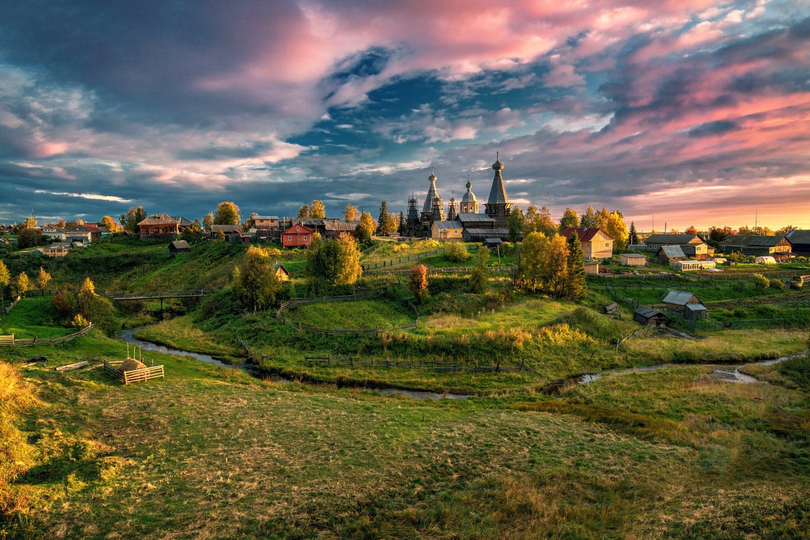 landscape_archangelsk_fall_Njonoksa_vill